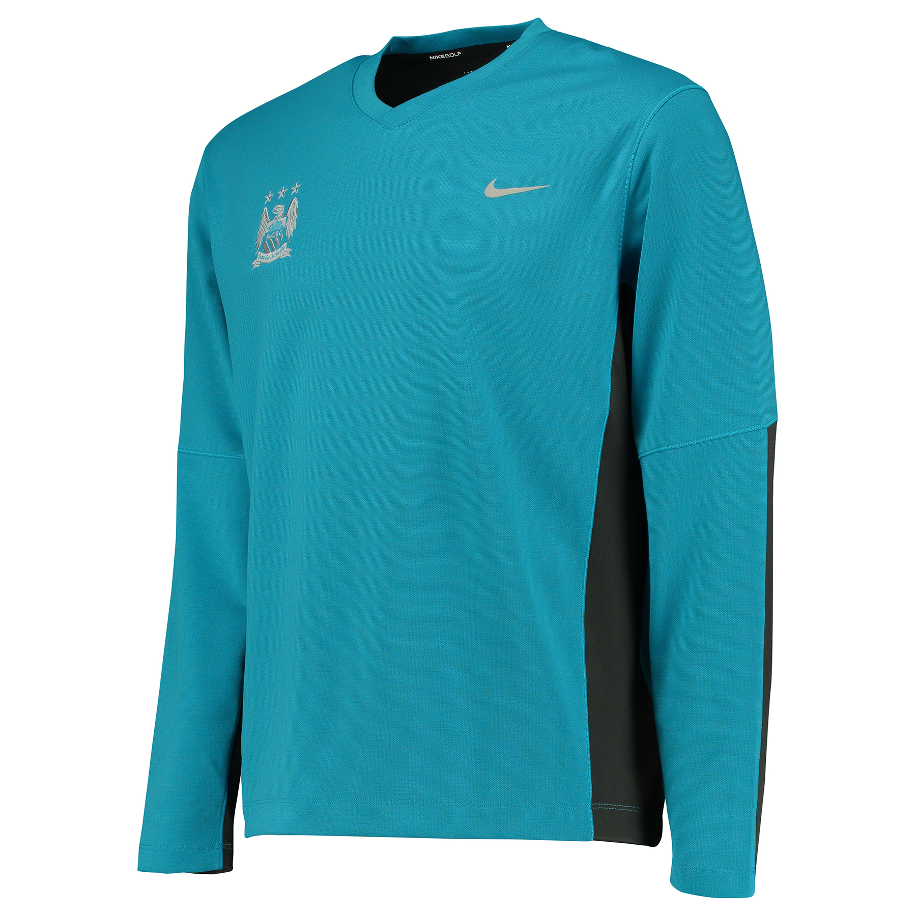 Manchester City Nike Golf Tech Sweater Blue