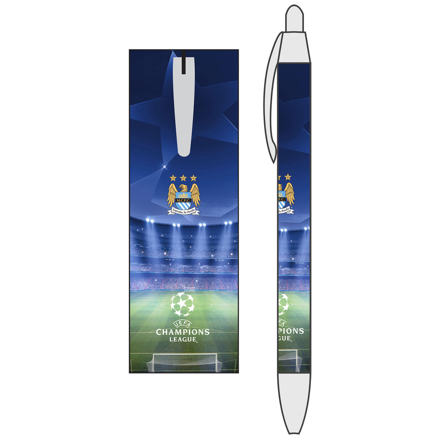 Manchester City Champions League Basic Pen