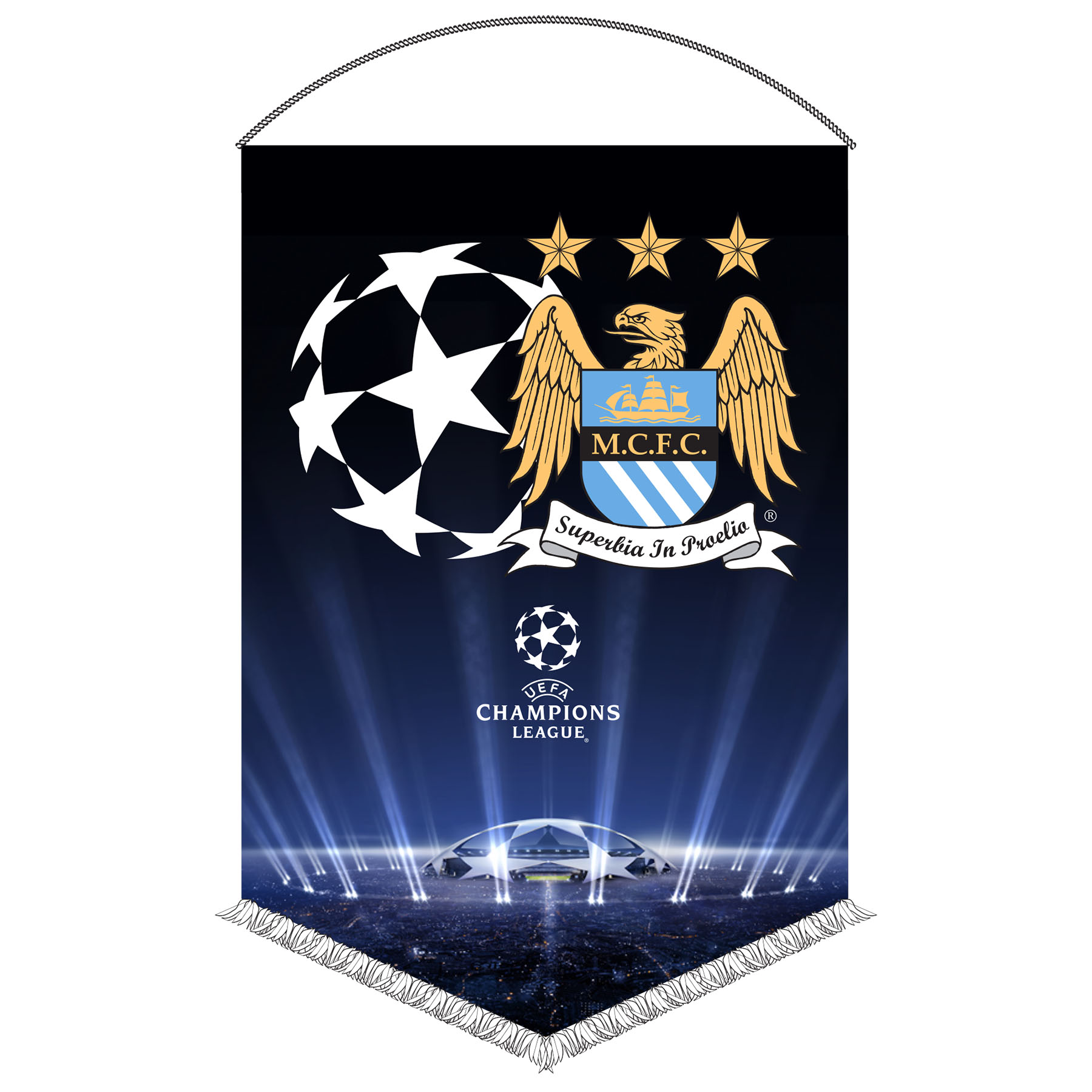 Manchester City Champions League Pennant