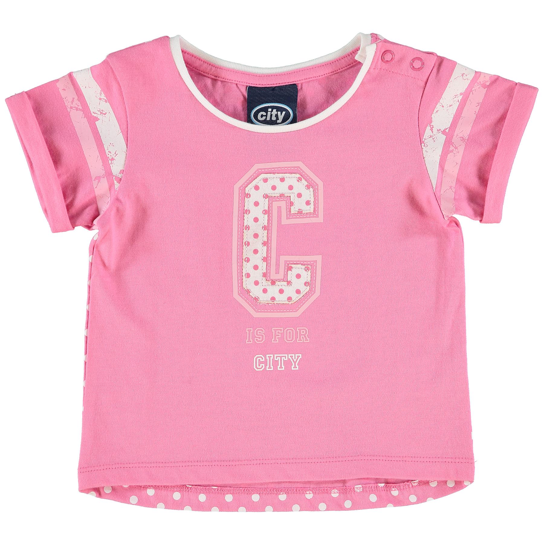 Manchester City Varsity T-Shirt - Hot Pink - Baby