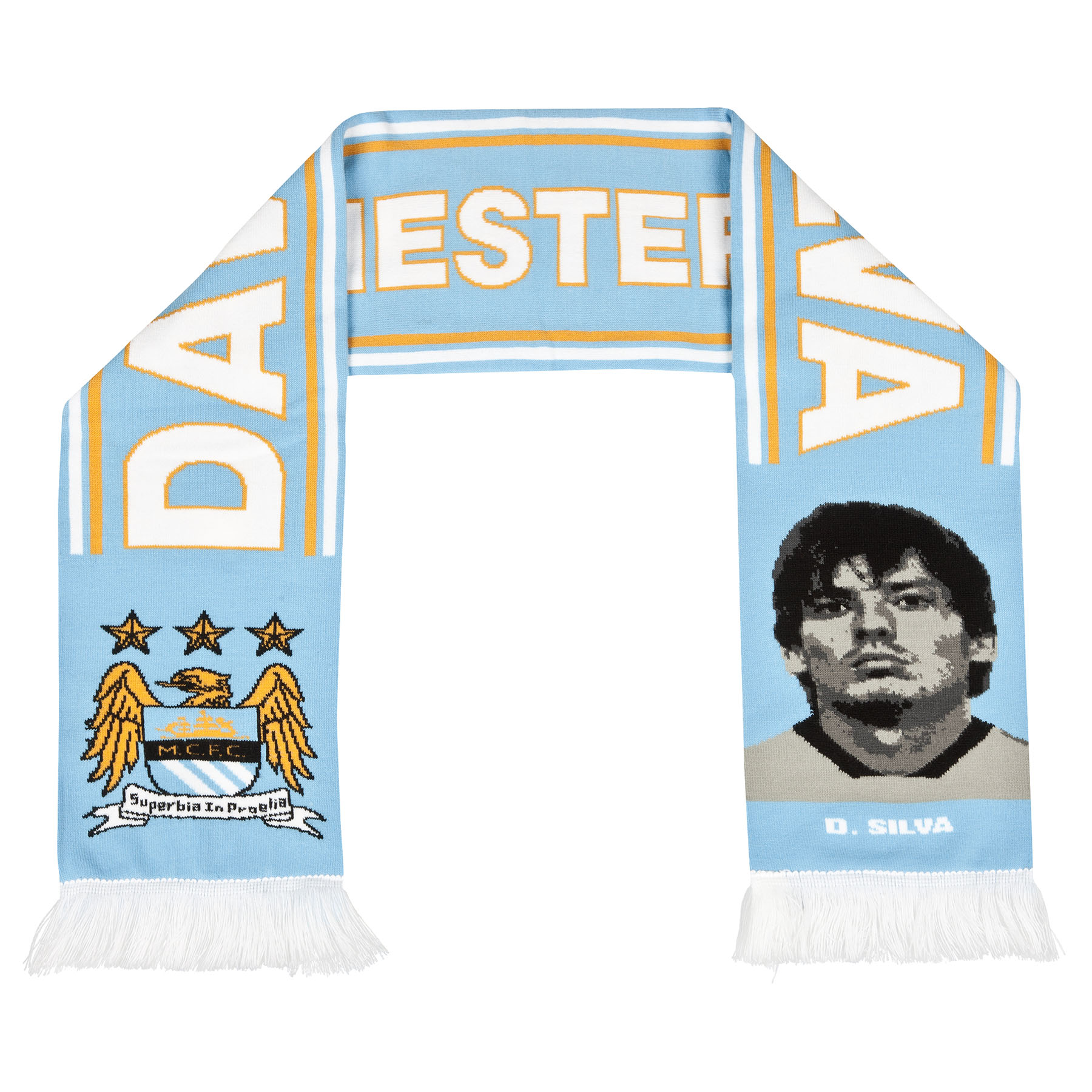 Manchester City Silva Scarf - Sky - Adult