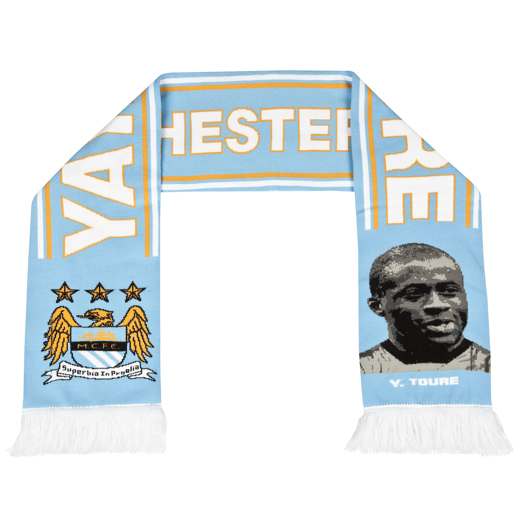 Manchester City Toure Scarf - Sky - Adult