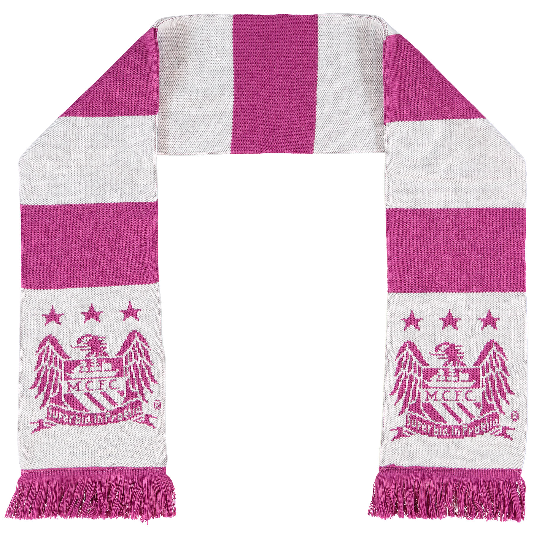 Manchester City Bar Scarf - Pink/White - Adult