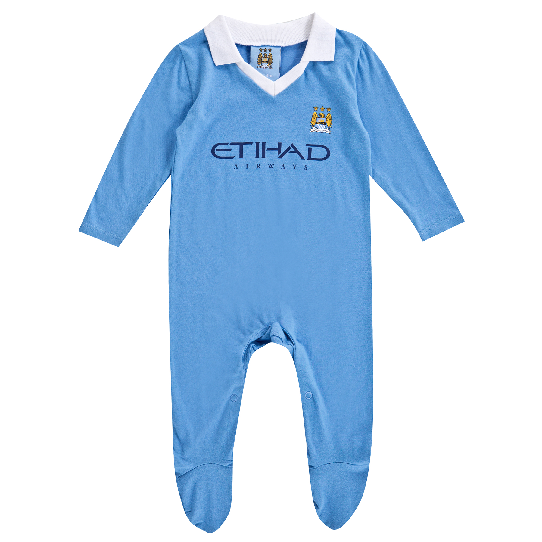 Manchester City 15/16 Kit Sleepsuit - Sky Blue - Baby