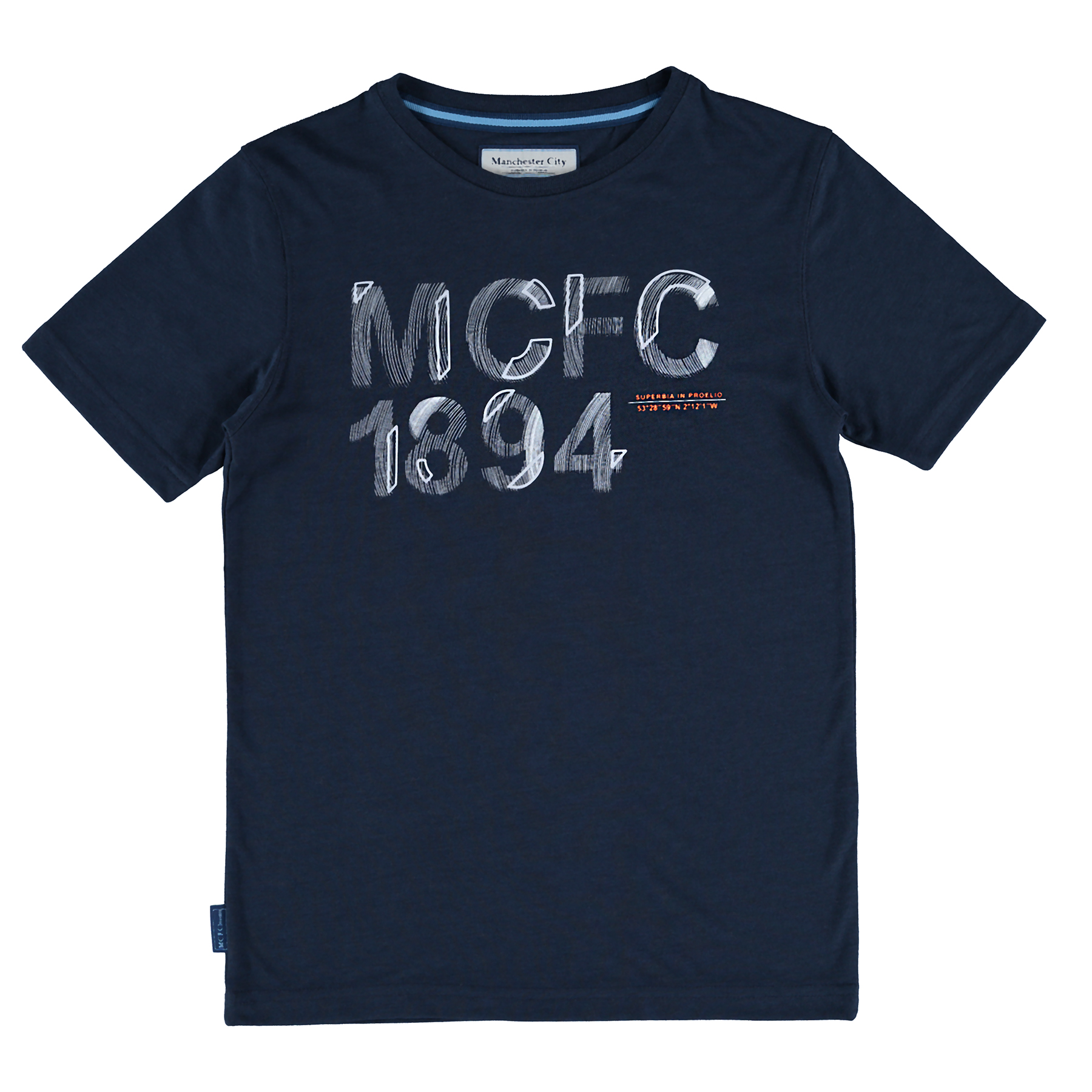 Manchester City Graphic T-Shirt - Navy - Older Boys