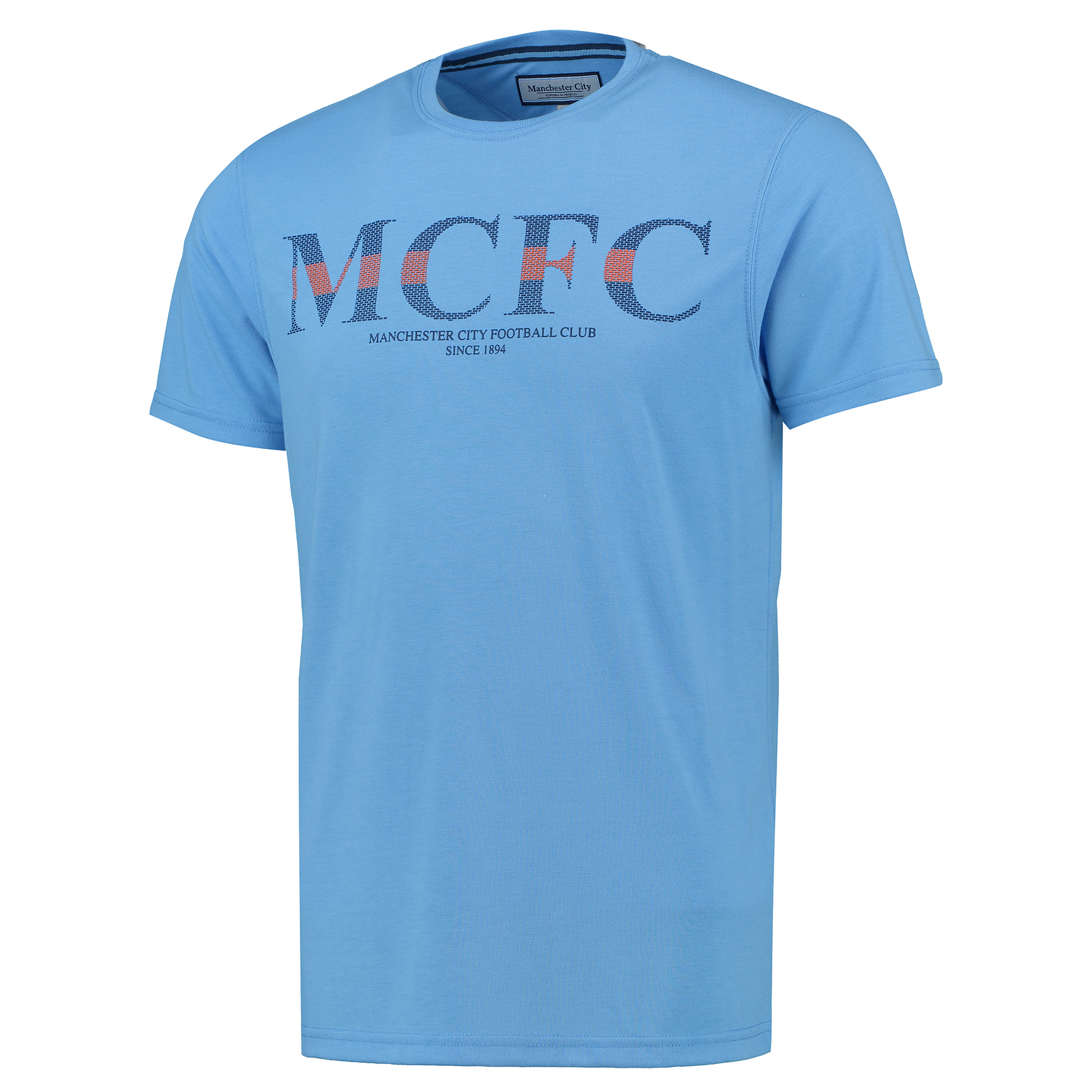 Manchester City Graphic T-Shirt - Sky - Mens