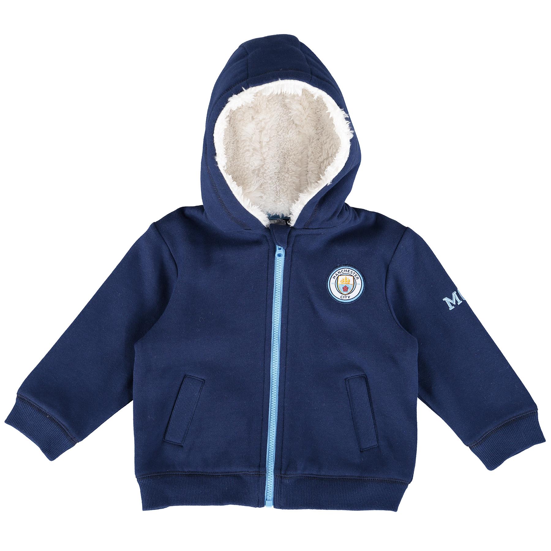 Manchester City Full Zip Hoodie - Navy - Baby