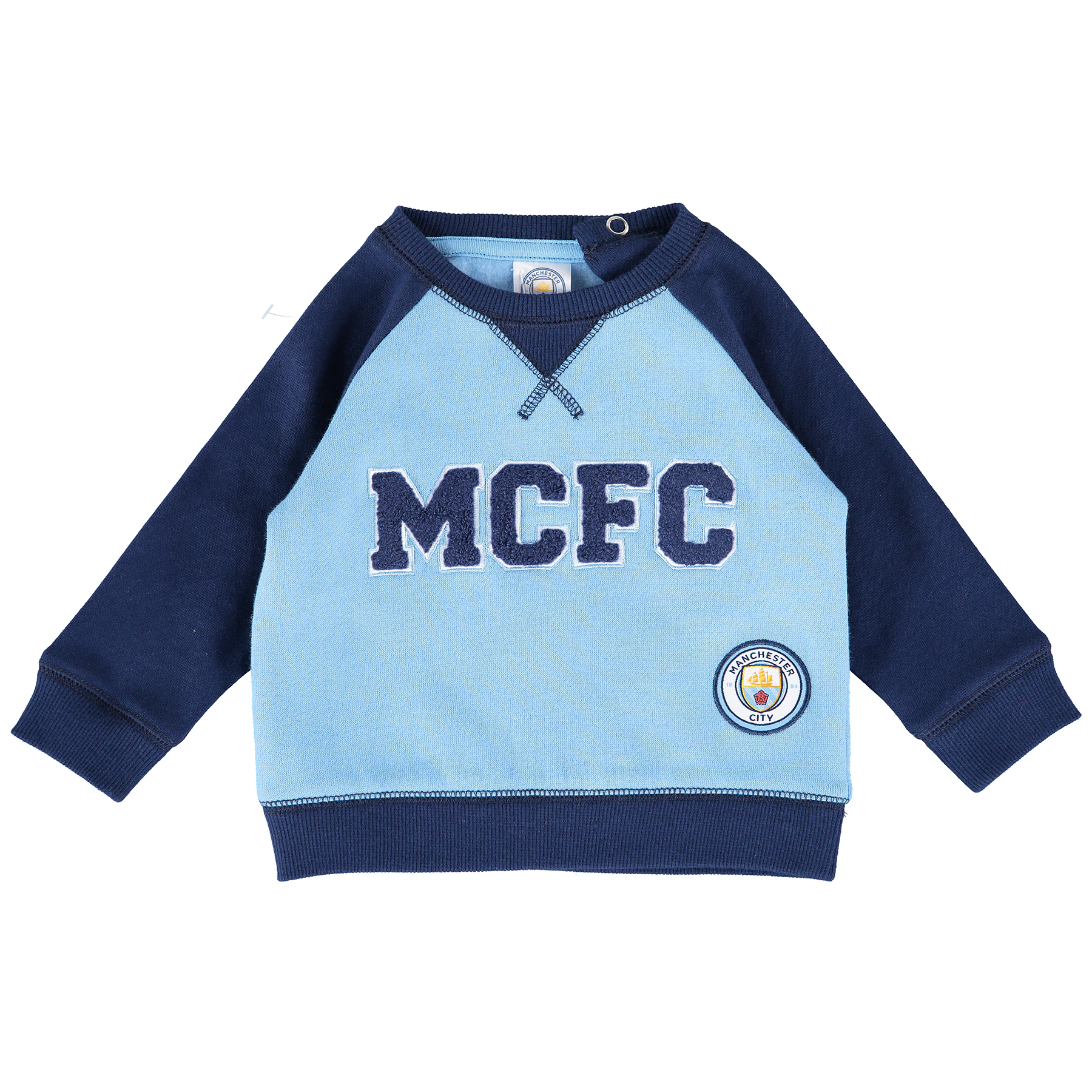 Manchester City Sweater - Sky/Navy - Baby