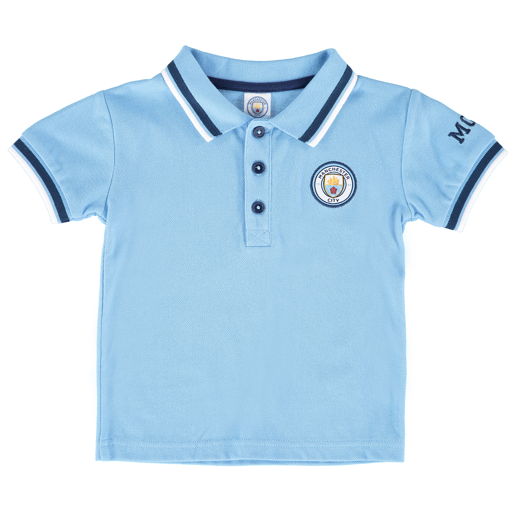 Manchester City Crest Polo - Sky - Baby
