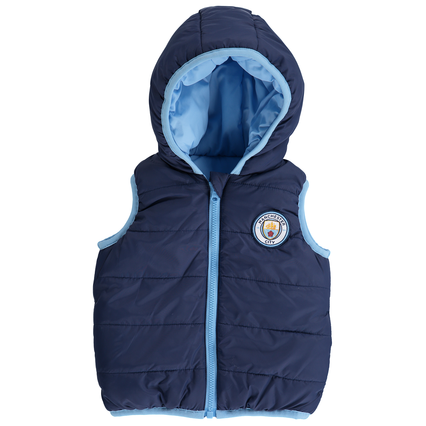Manchester City Reversible Gilet - Navy/Sky - Baby