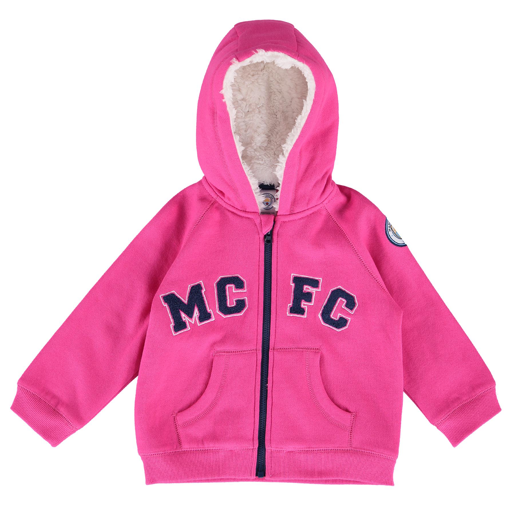Manchester City Full Zip Hoodie - Pink - Baby