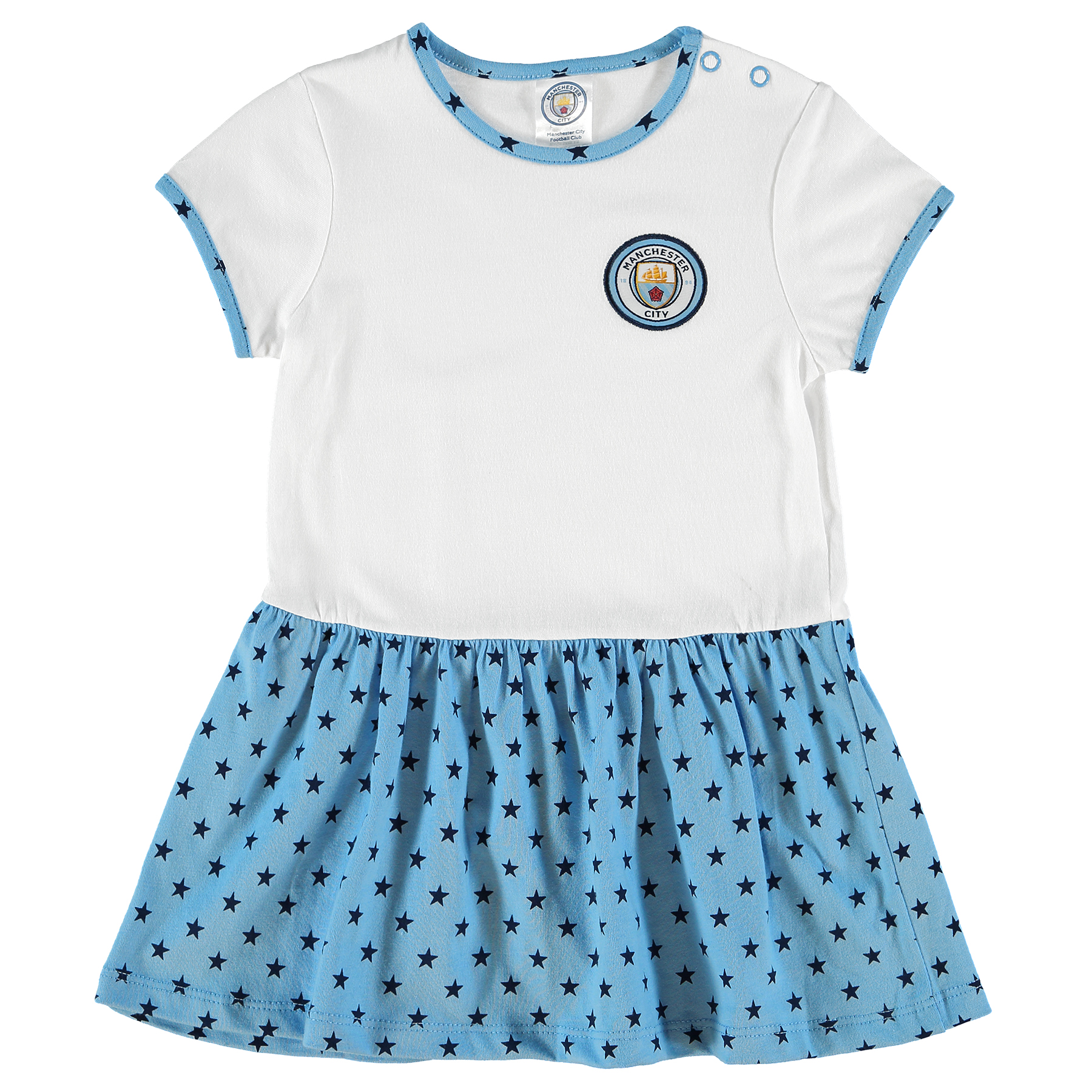 Manchester City Crest Dress - Sky/White - Baby