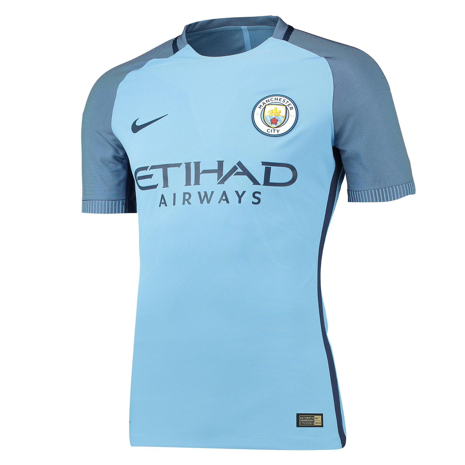 Manchester City Home Vapor Match Shirt 2016-17