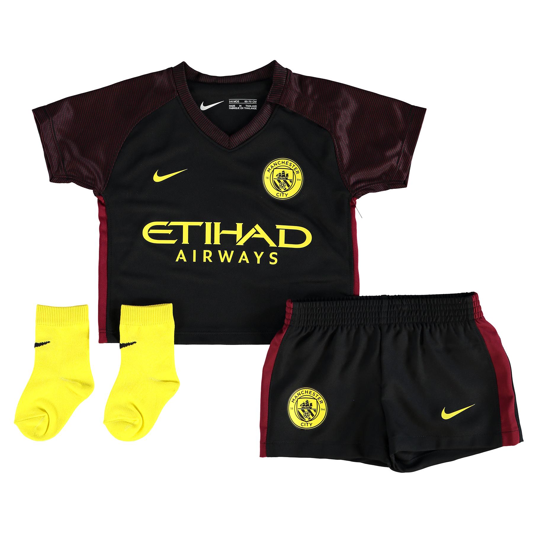 Manchester City Away Stadium Kit 2016-17 - Infants