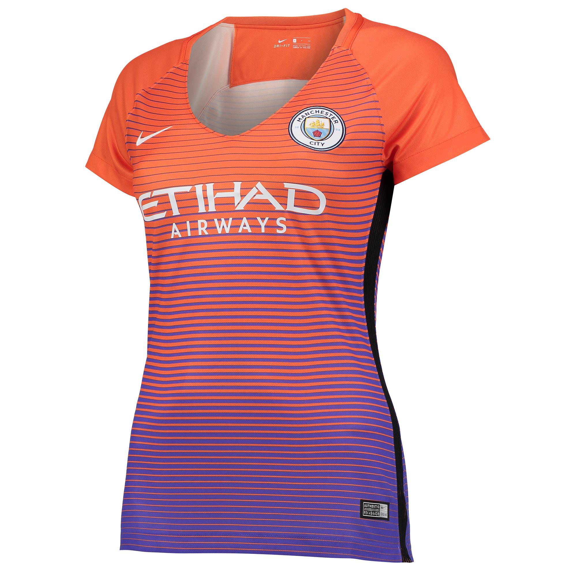 Manchester City Third Stadium Shirt 2016-17 - Womens