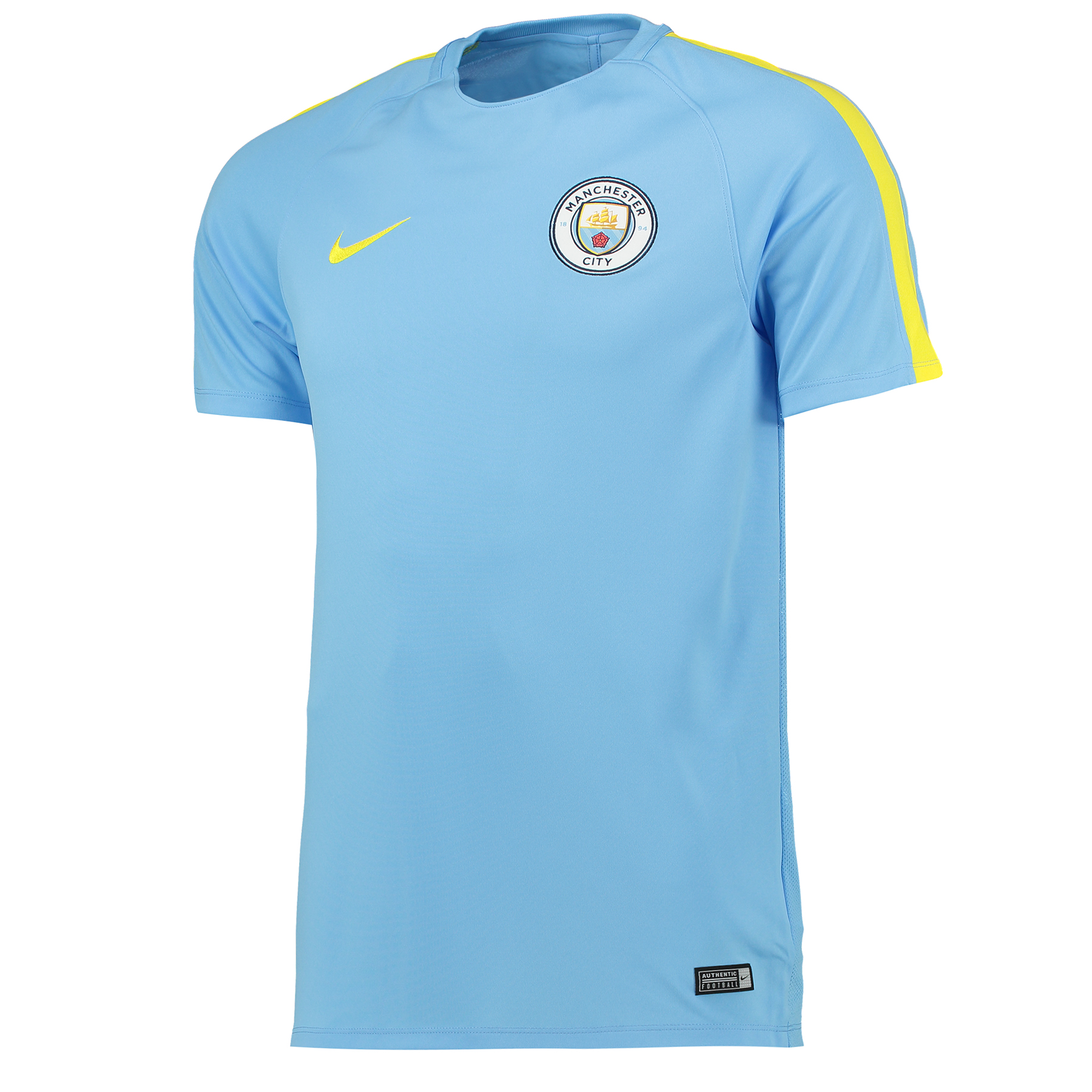 Manchester City Squad Training Top - Light Blue