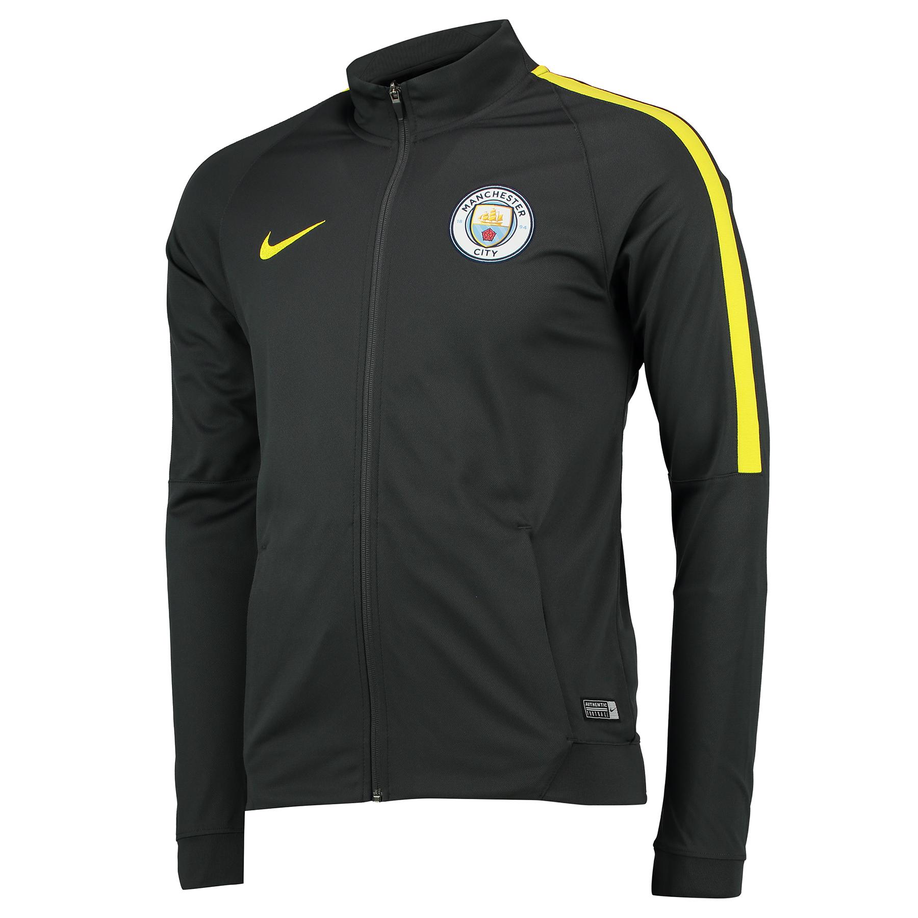 Manchester City Squad Track Top - Dark Grey