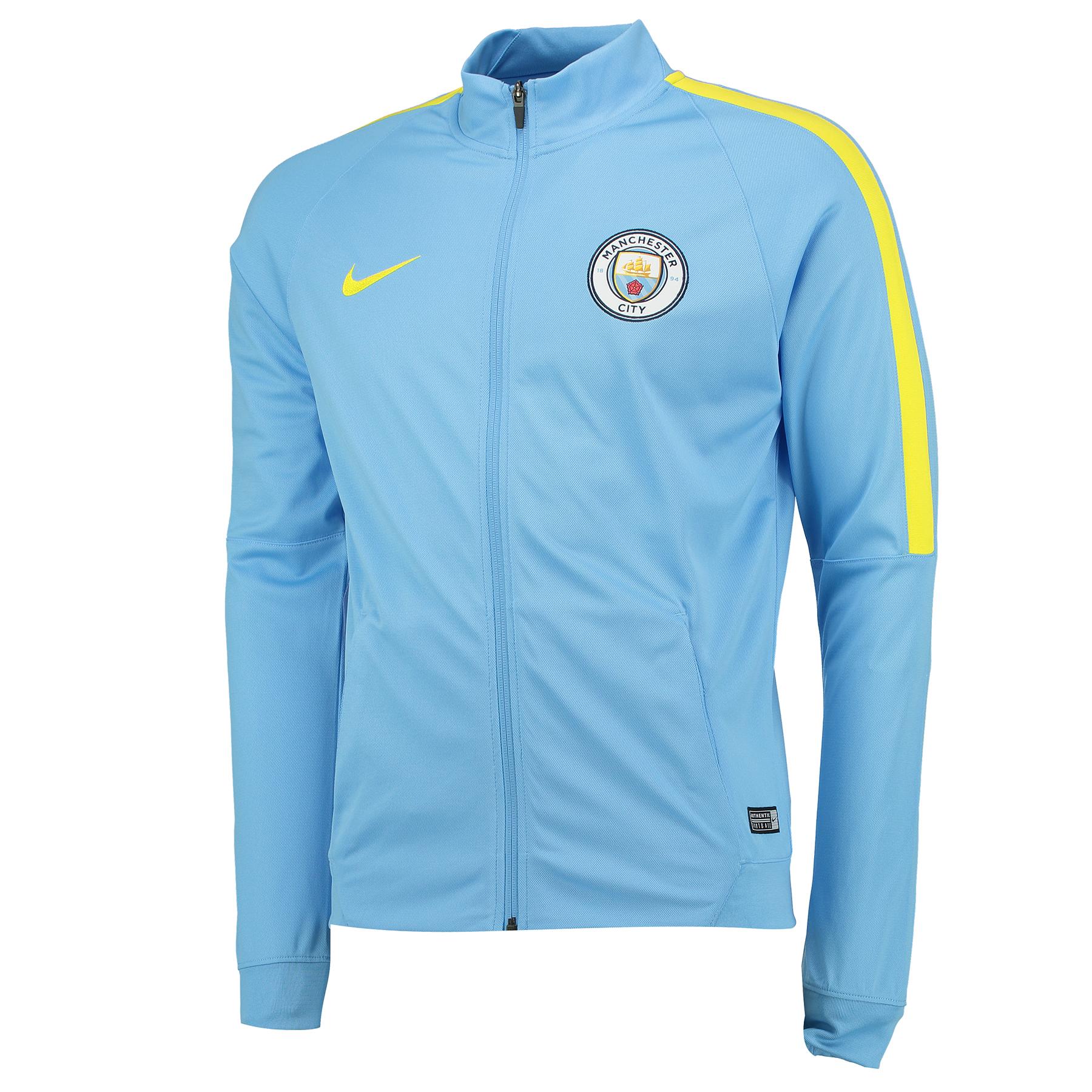Manchester City Squad Track Top - Light Blue