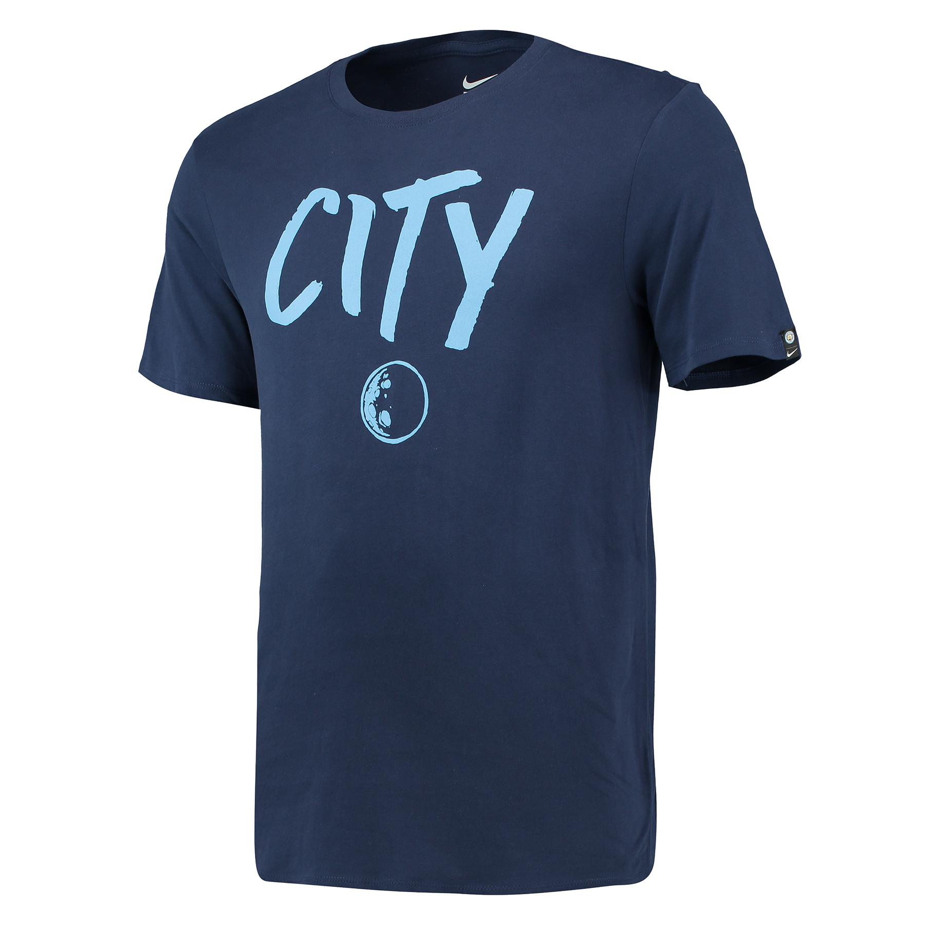 Manchester City Squad T-Shirt - Navy