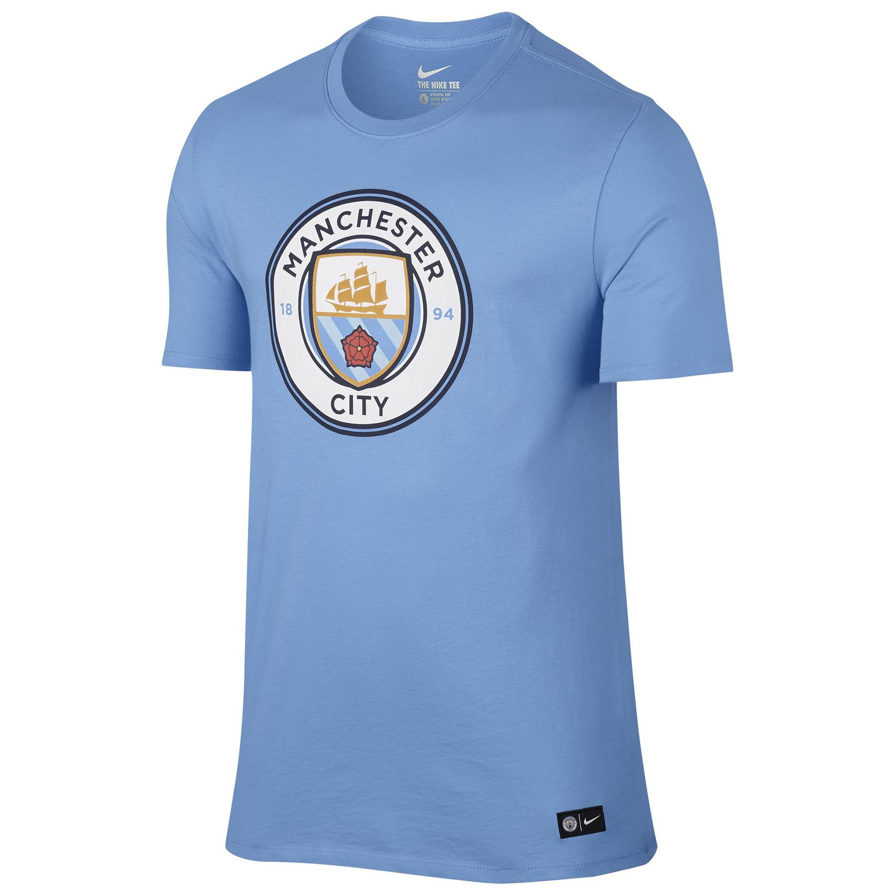 Manchester City Crest T-Shirt - Lt Blue
