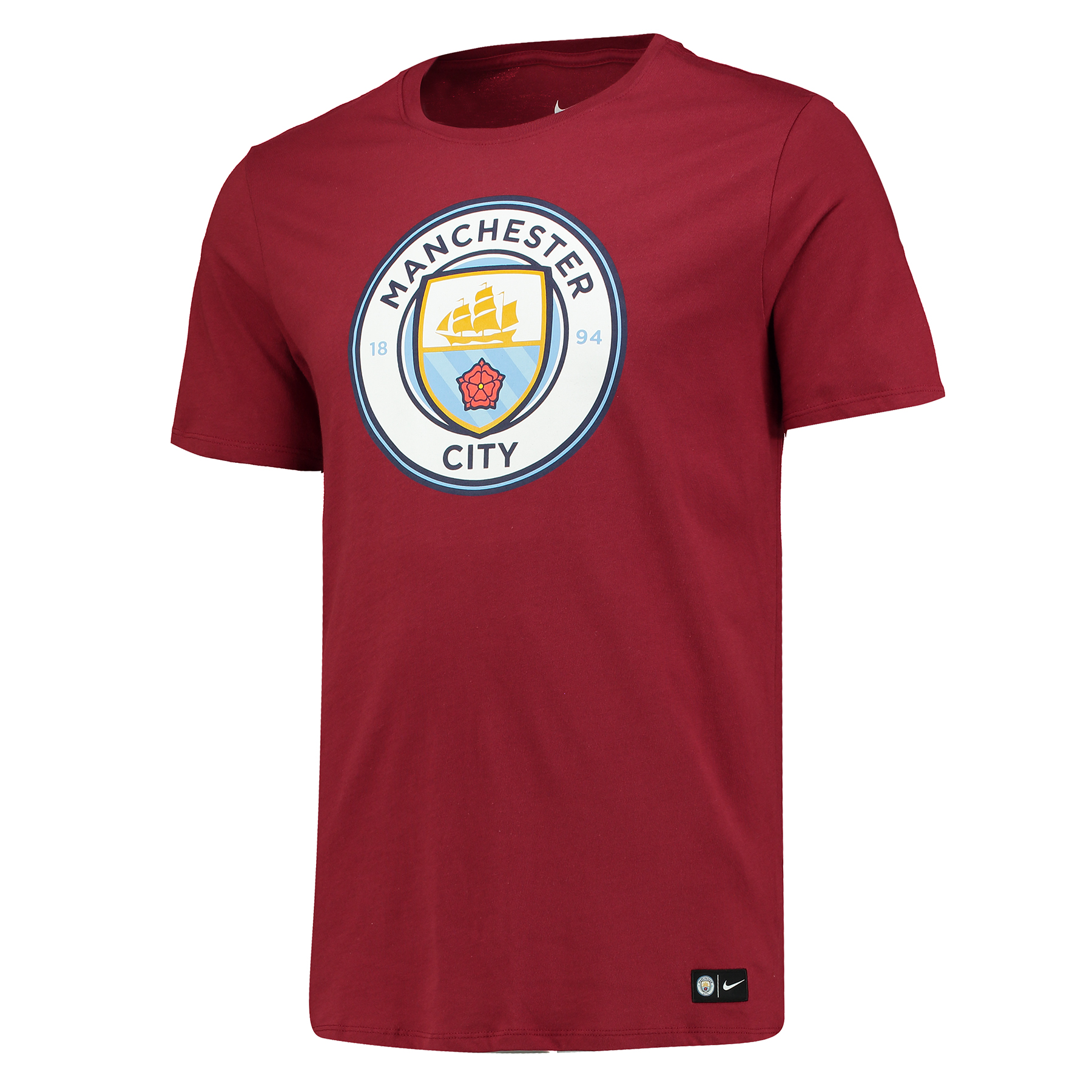 Manchester City Crest T-Shirt - Maroon - Kids