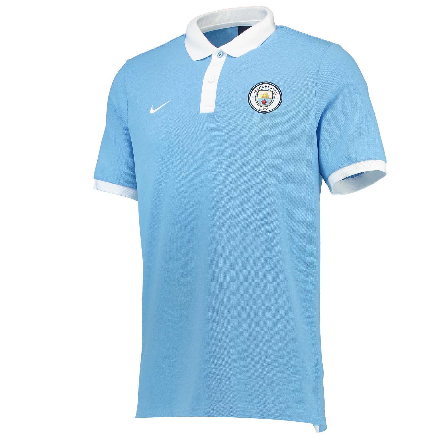 Manchester City Core Polo - Light Blue