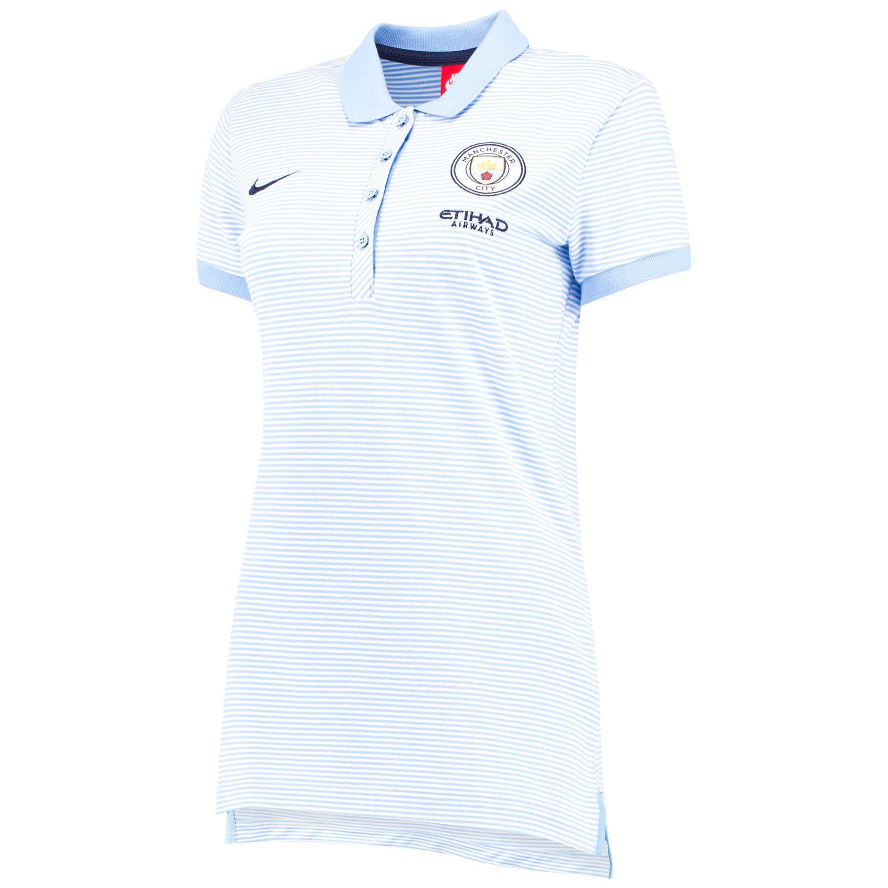 Manchester City Authentic Grand Slam Polo - Light Blue - Womens