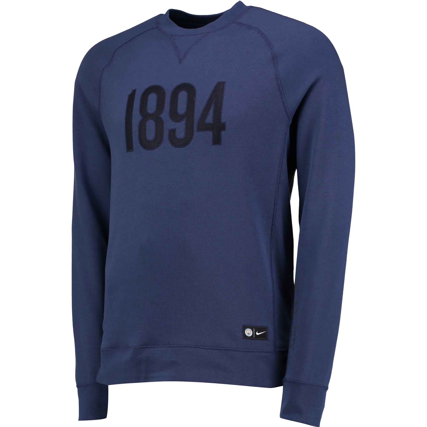 Manchester City Authentic Crew Neck Sweater - Navy