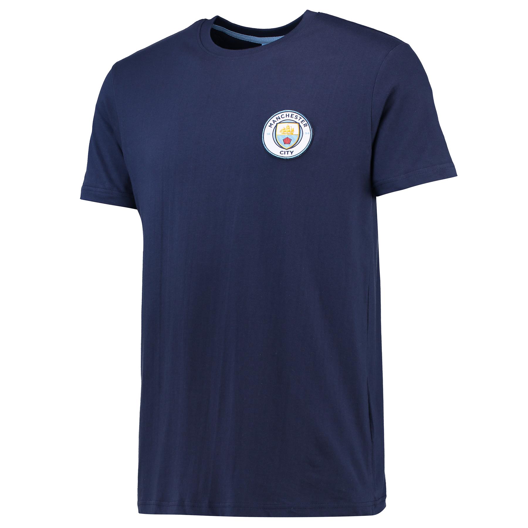 Manchester City Core Crest T-Shirt - Navy