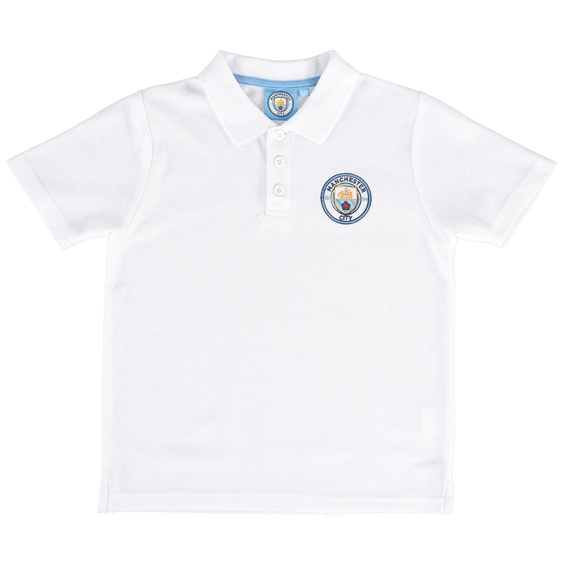 Manchester City Core Crest Polo Shirt - White - Junior