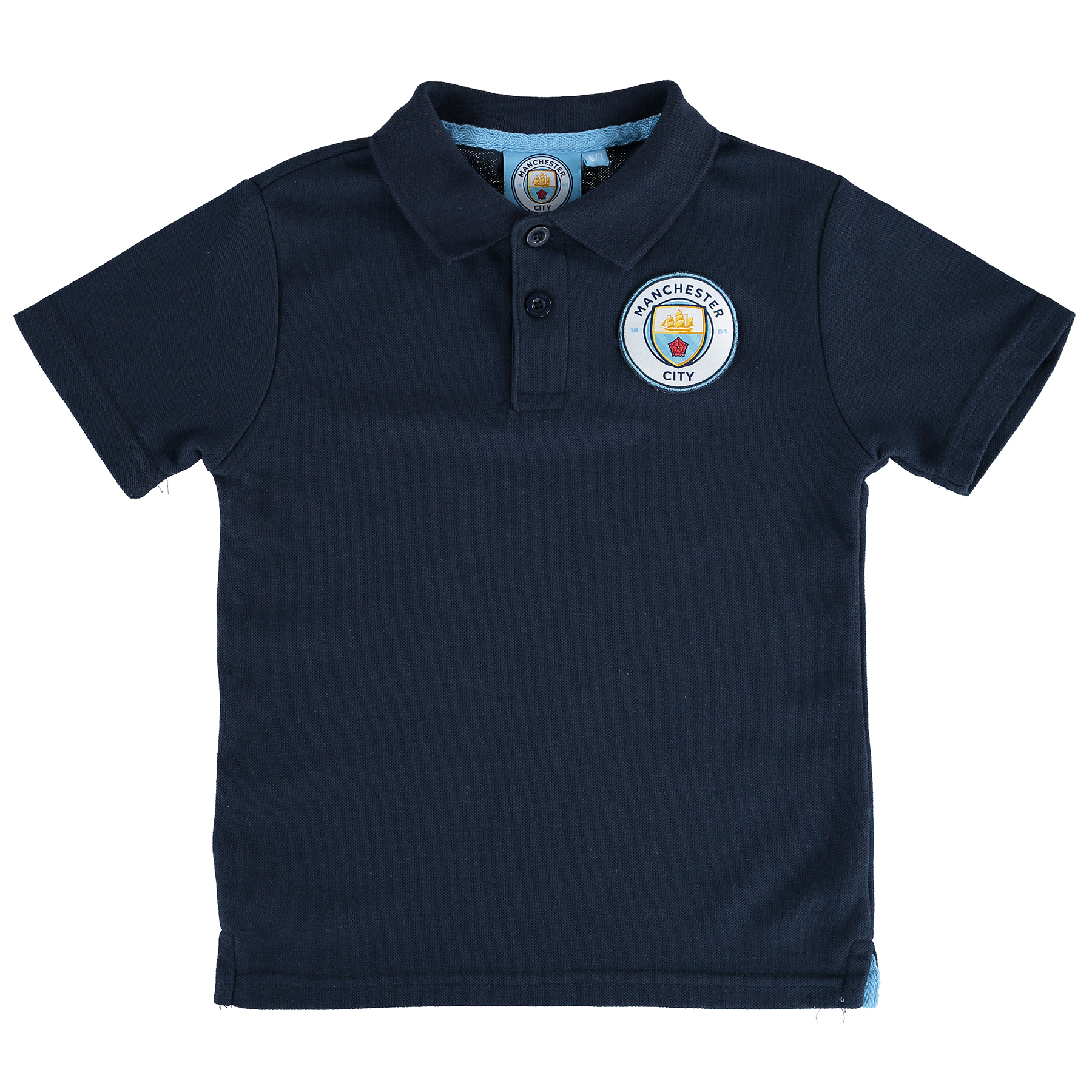 Manchester City Core Crest Polo Shirt - Navy - Junior