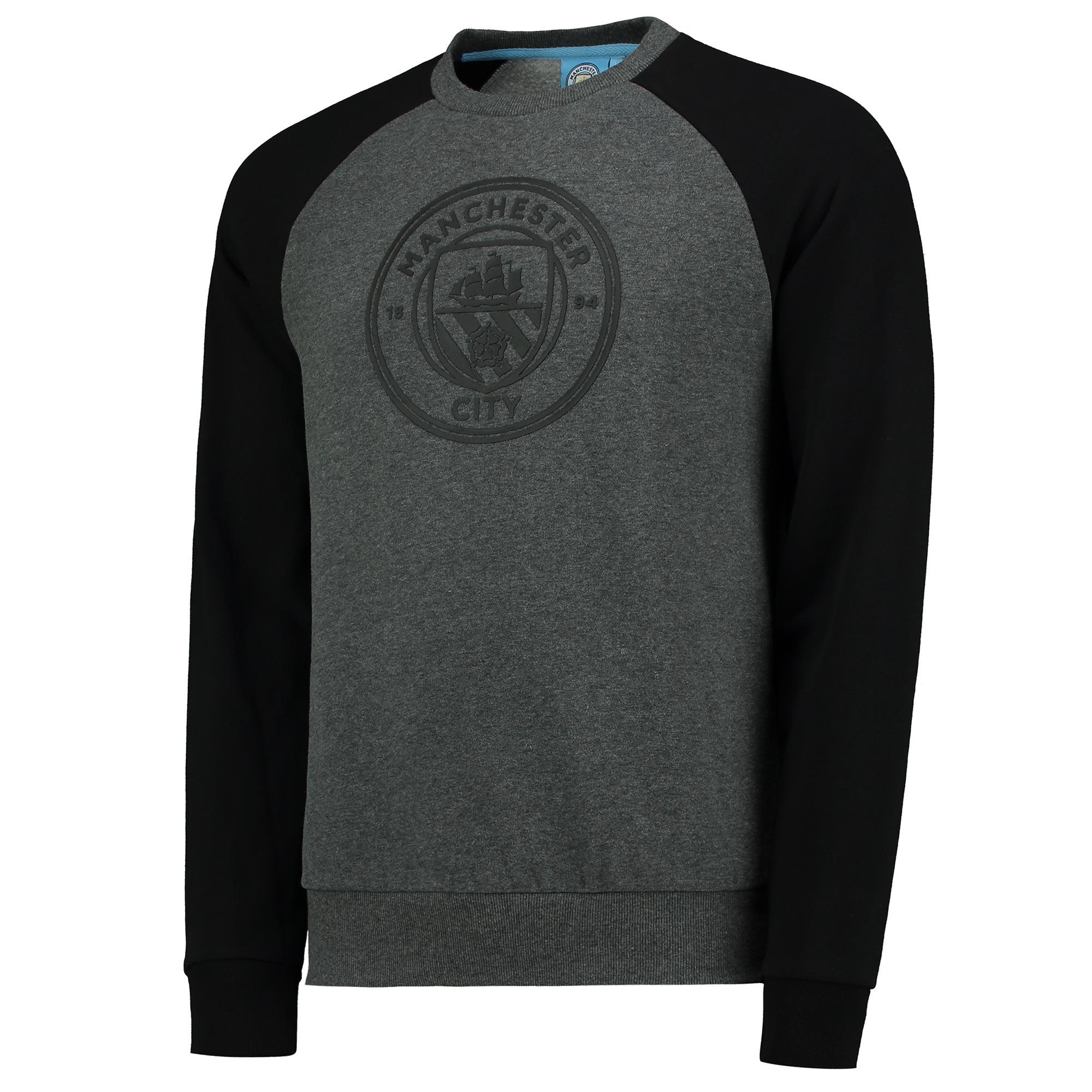 Manchester City Classic Raglan Sweatshirt - Grey/Black