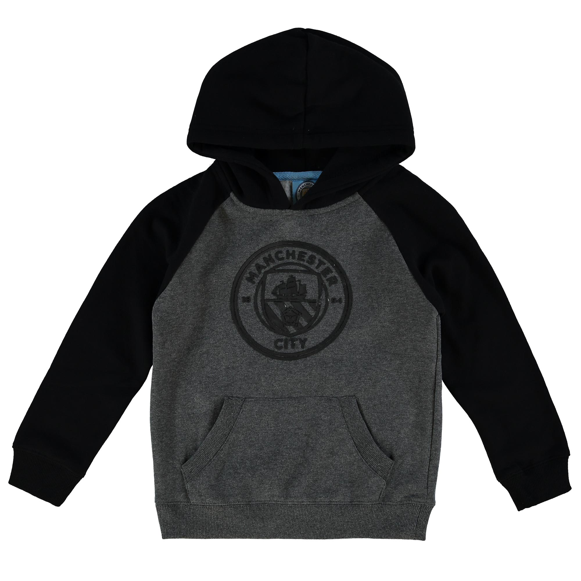 Manchester City Classic OTH Raglan Hoodie - Grey/Black - Junior