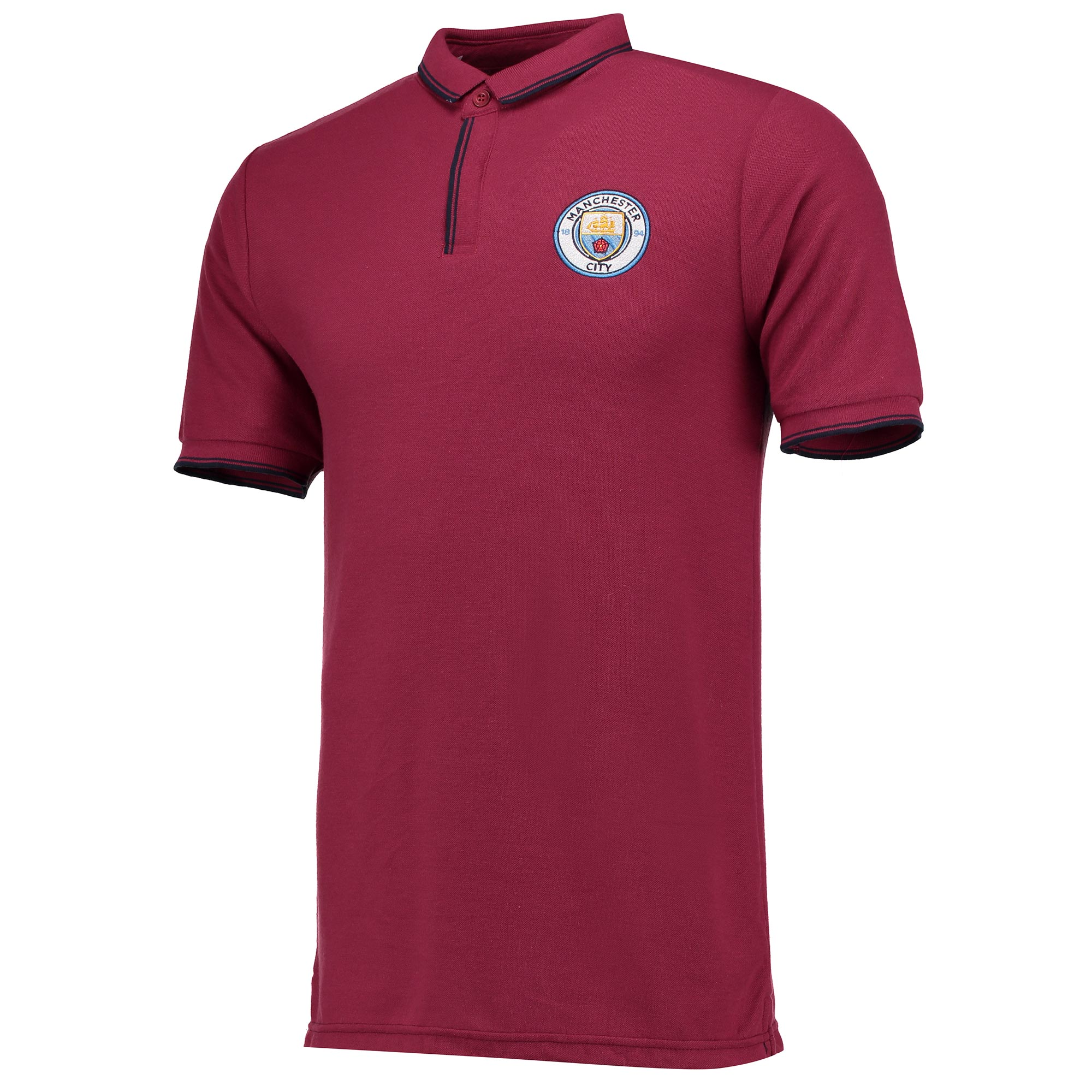 Manchester City Classic Slim Fit Polo Shirt - Maroon