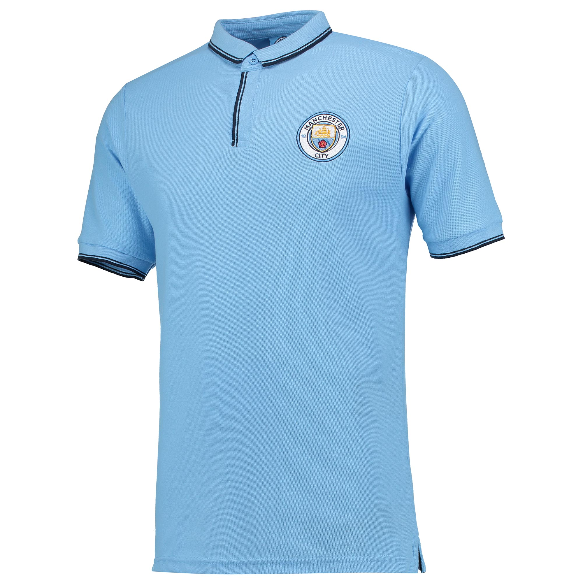 Manchester City Classic Slim Fit Polo Shirt - Sky