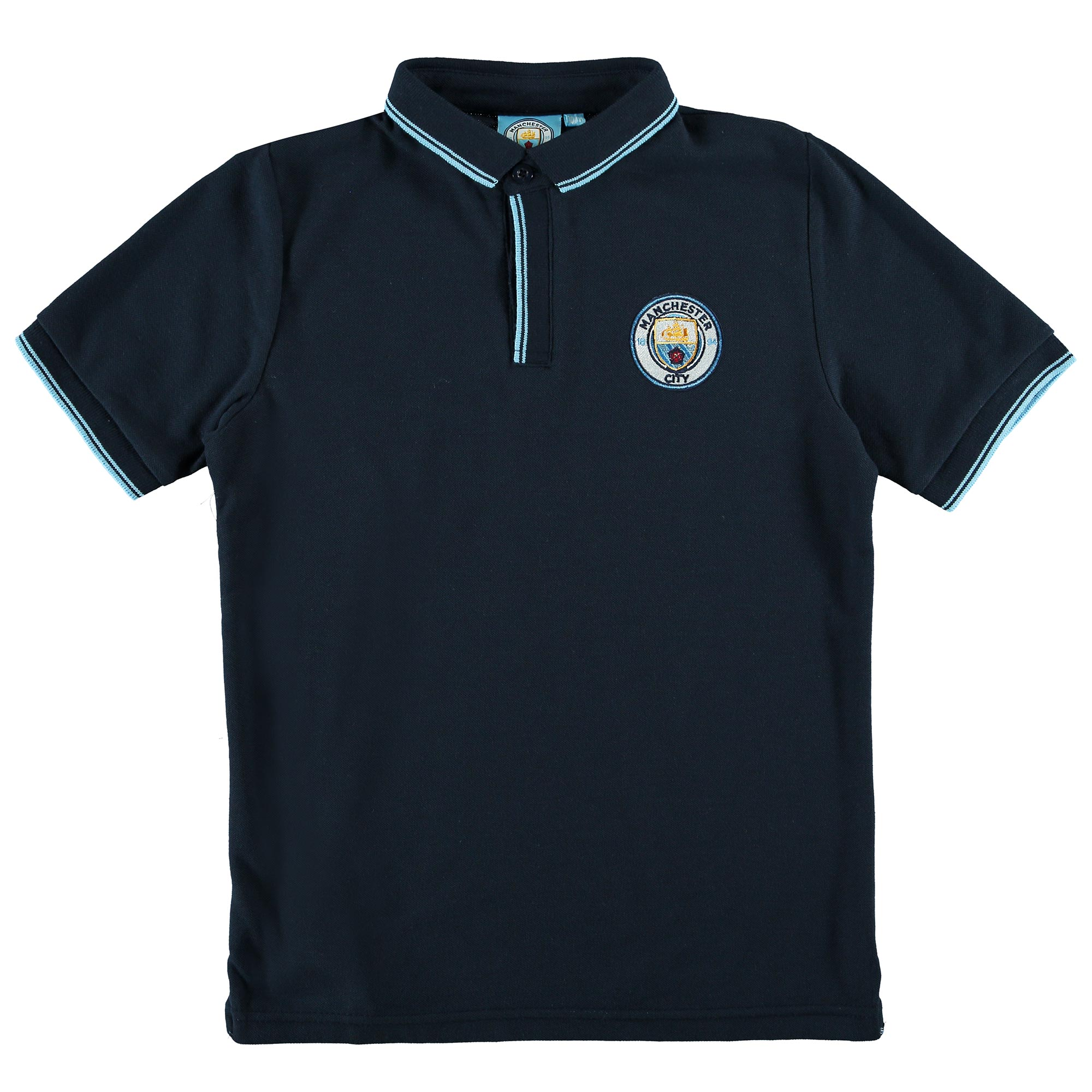 Manchester City Classic Slim Fit Polo Shirt - Navy - Junior