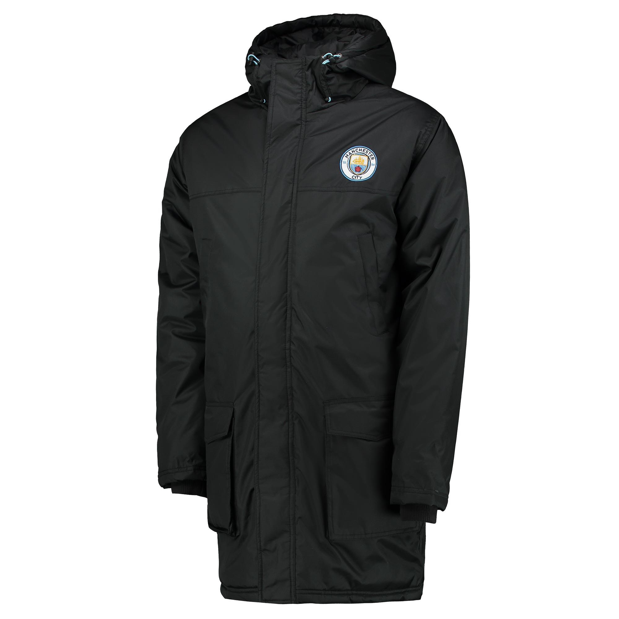 Manchester City Classic Padded Coat - Black