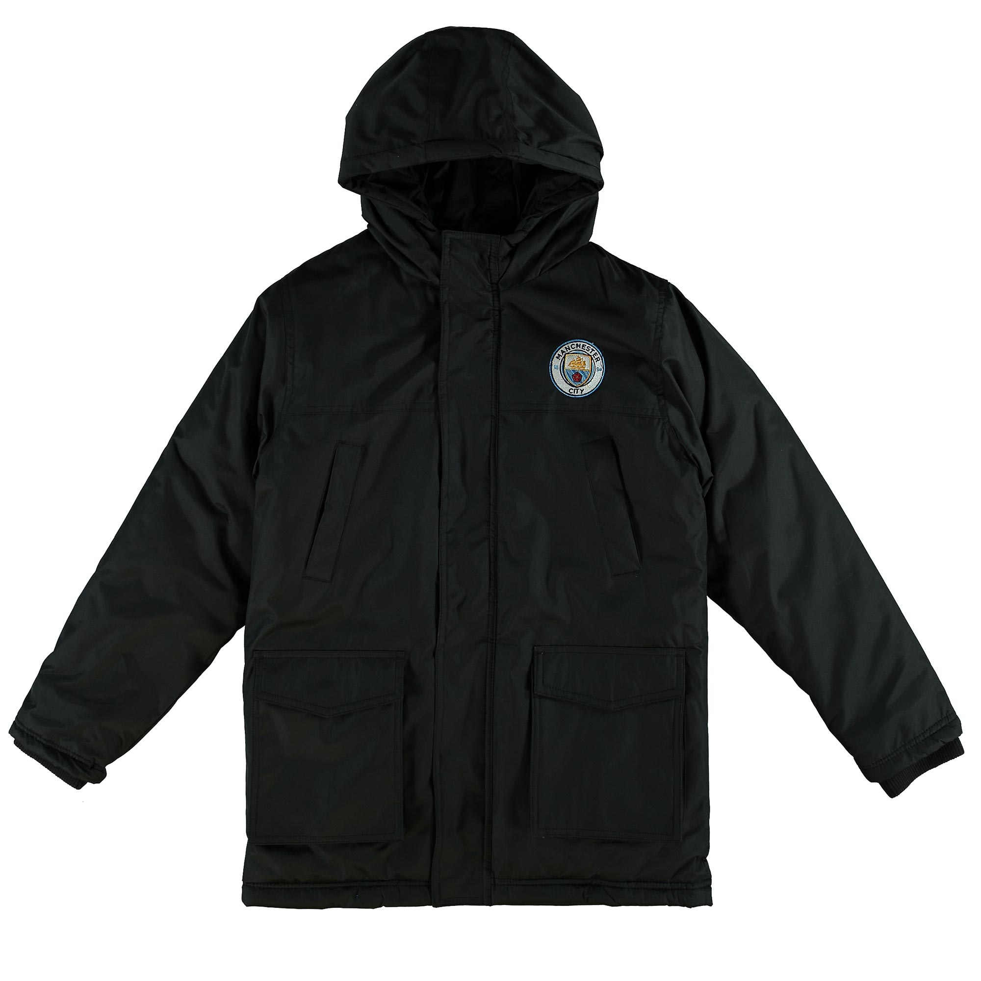 Manchester City Classic Padded Coat - Black - Junior