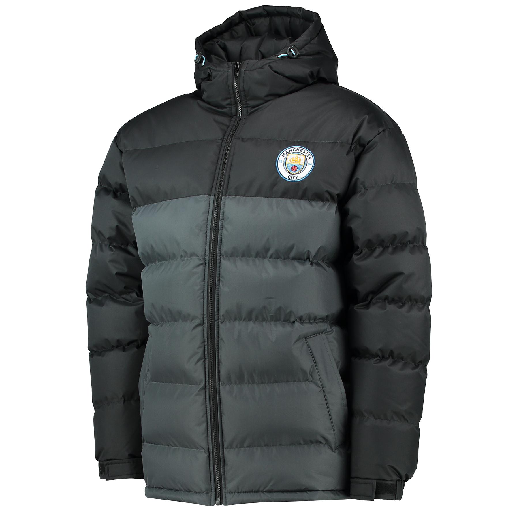 Manchester City Classic Padded Coat - Black/Grey