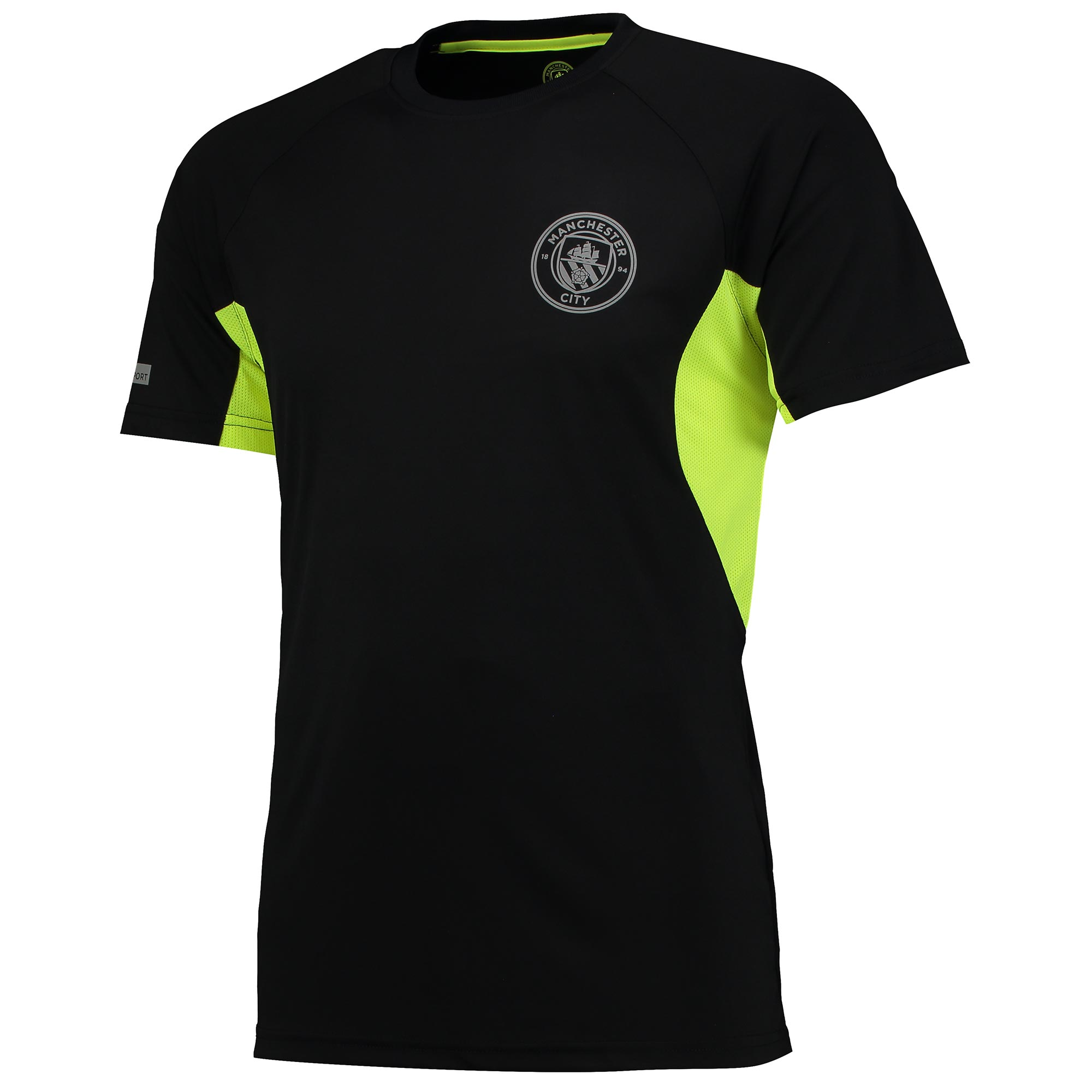 Manchester City Sport Poly T-Shirt - Black