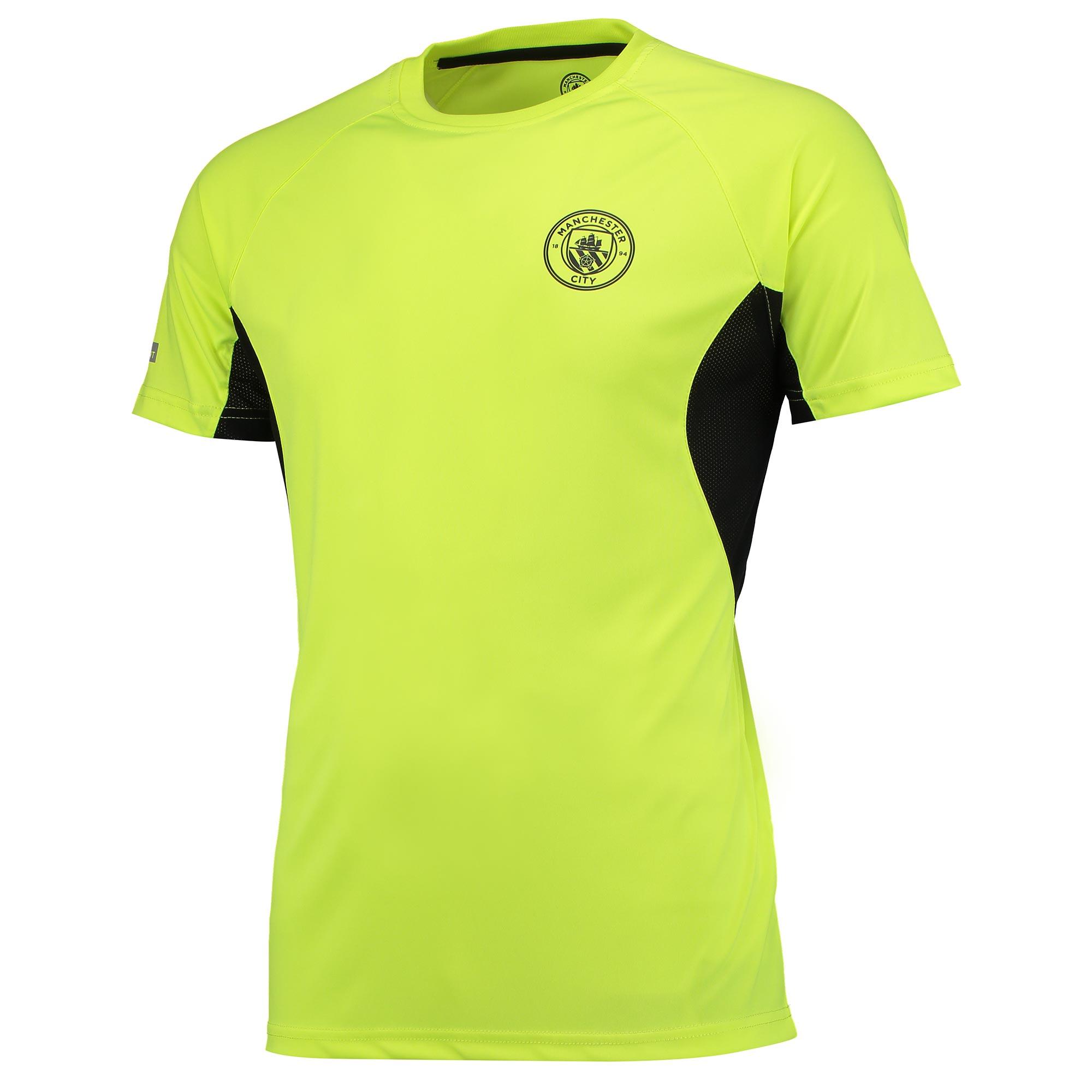Manchester City Sport Poly T-Shirt - Neon Yellow