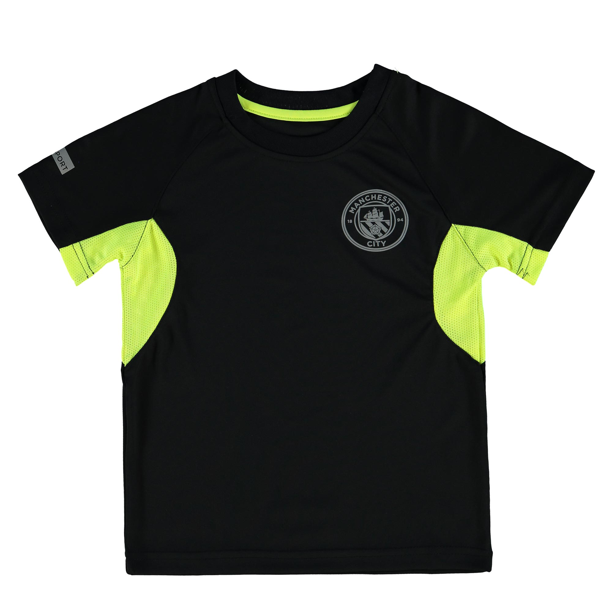 Manchester City Sport Poly T-Shirt - Black - Junior