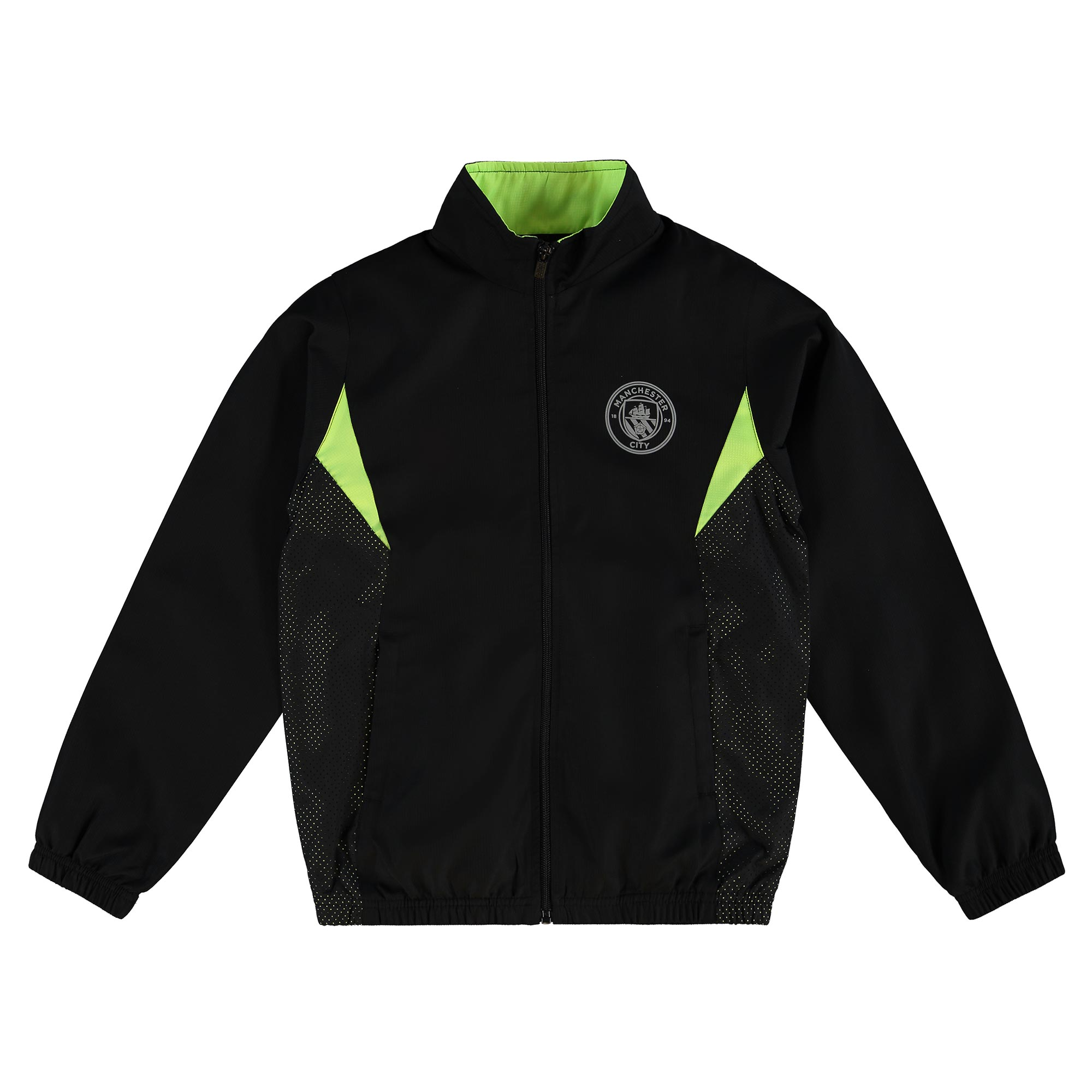 Manchester City Sport Woven Track Jacket - Black - Junior