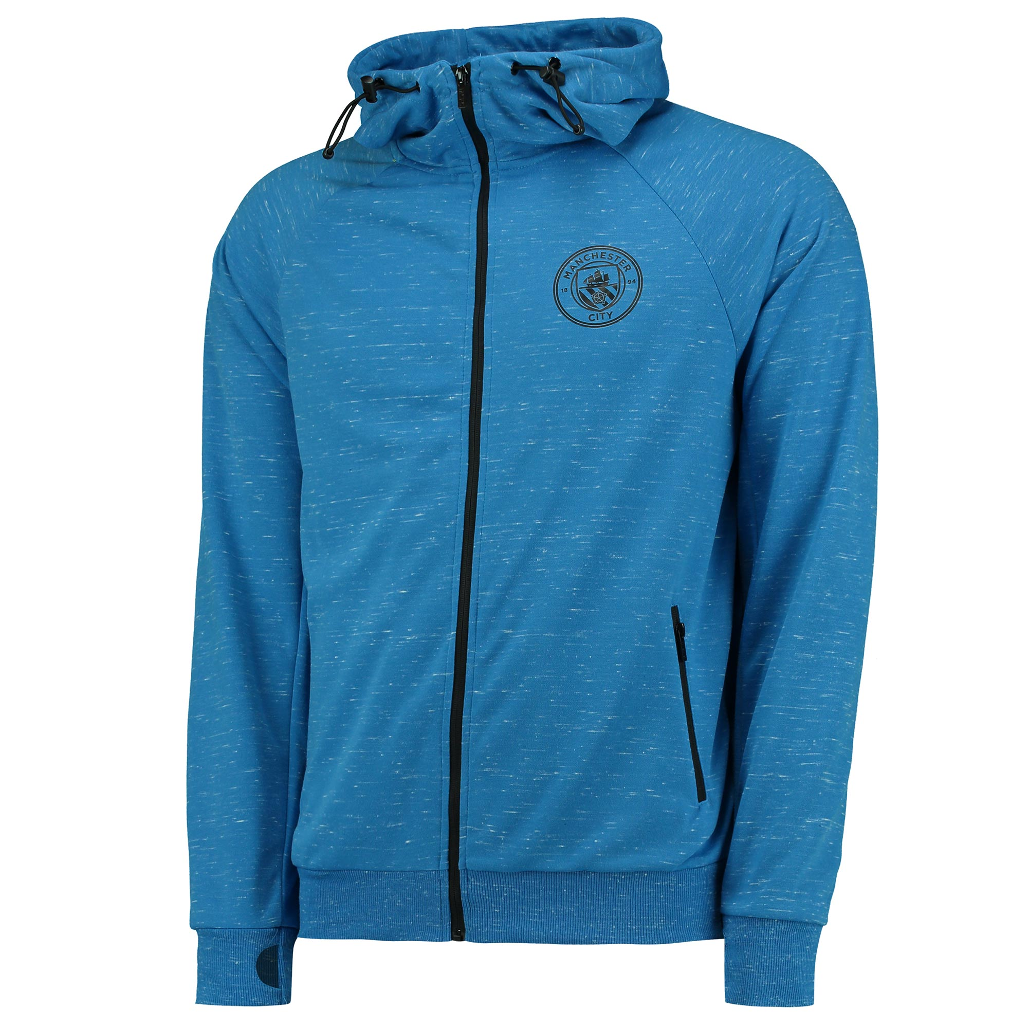Manchester City Sport Full Zip Hoodie - Blue