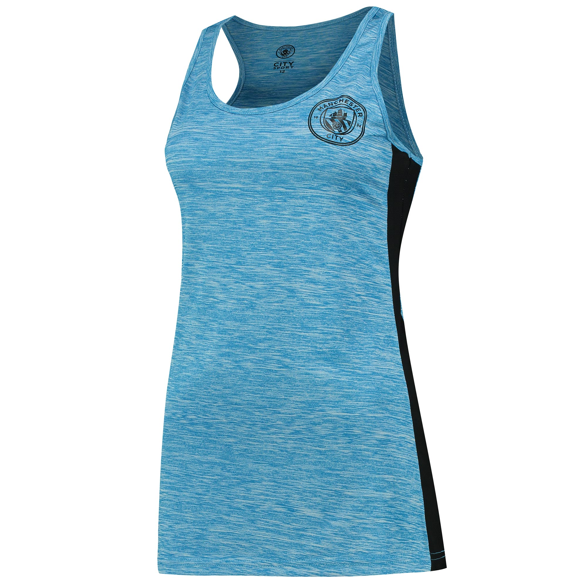 Manchester City Sport Poly Vest - Blue - Womens