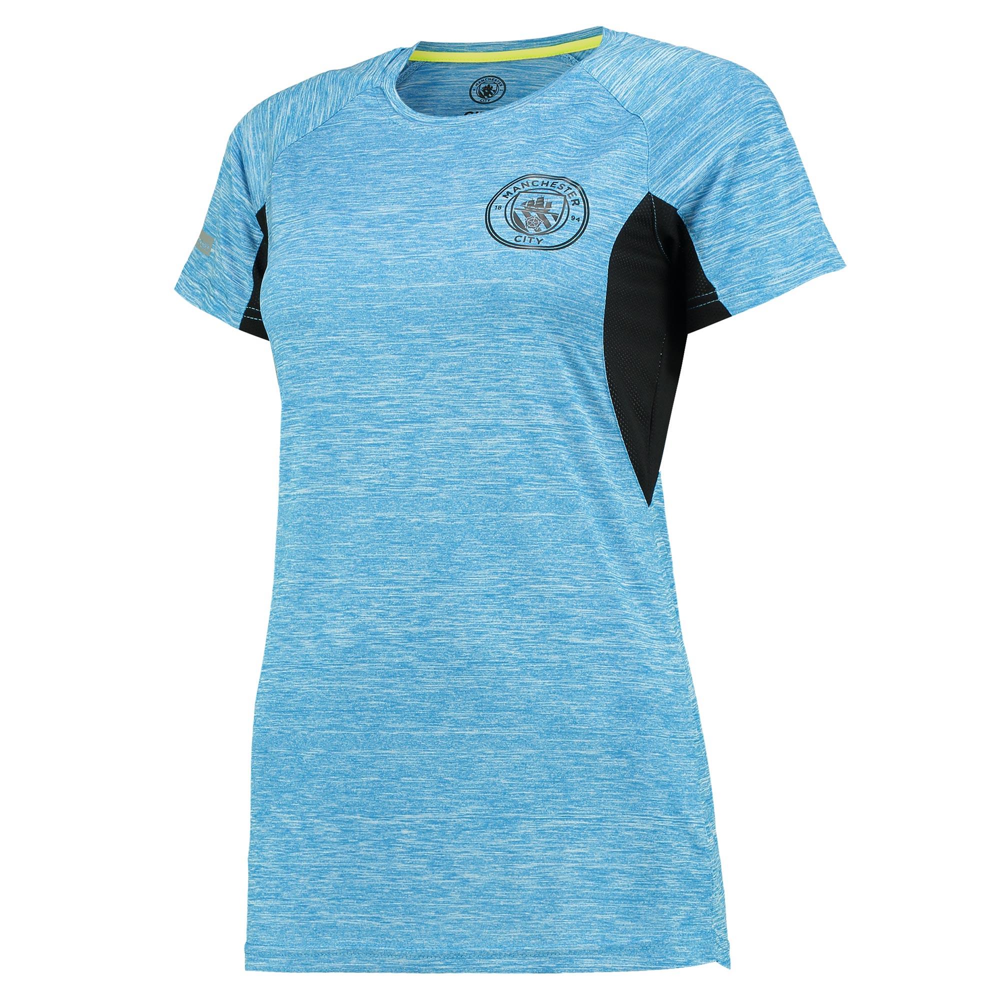 Manchester City Sport Poly T-Shirt - Blue - Womens