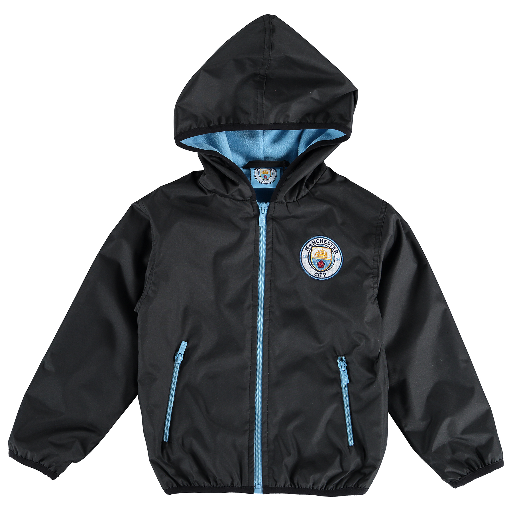 Manchester City Classic Shower Jacket - Black - Junior