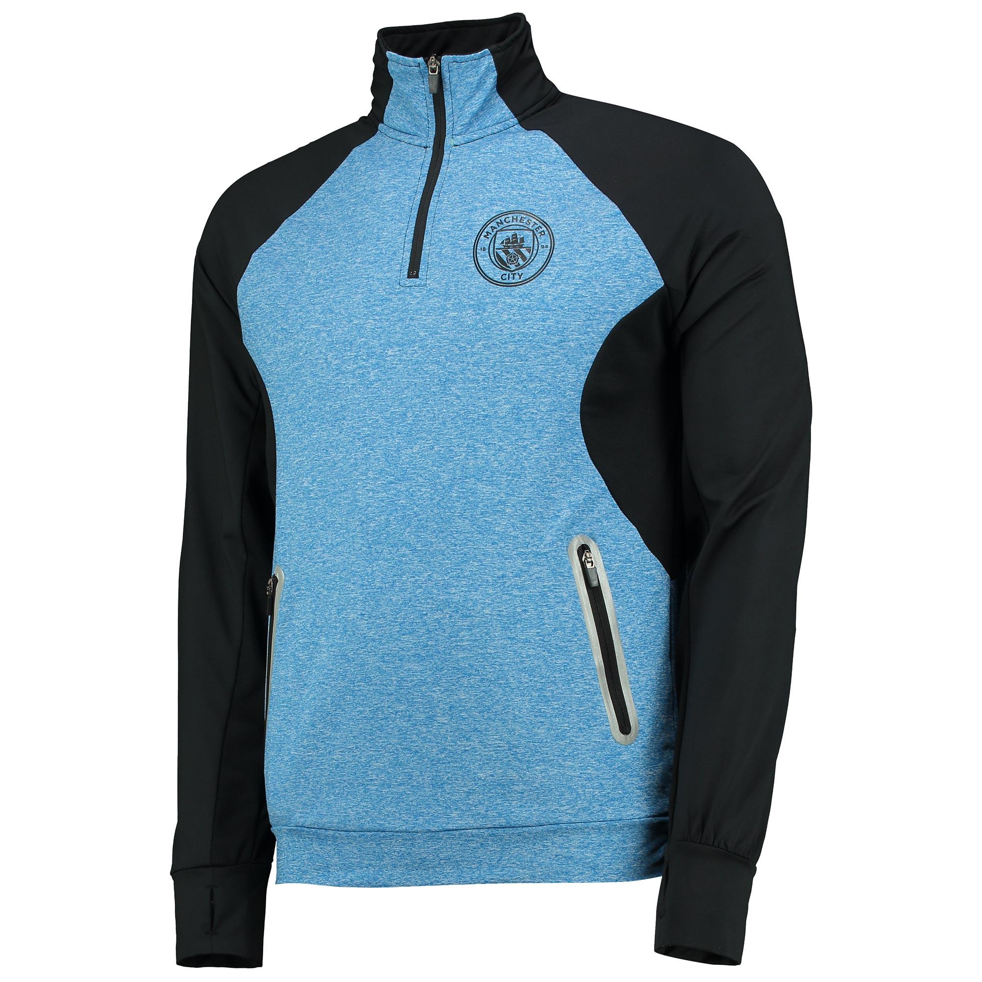 Manchester City Sport Funnel Neck Top - Blue/Black