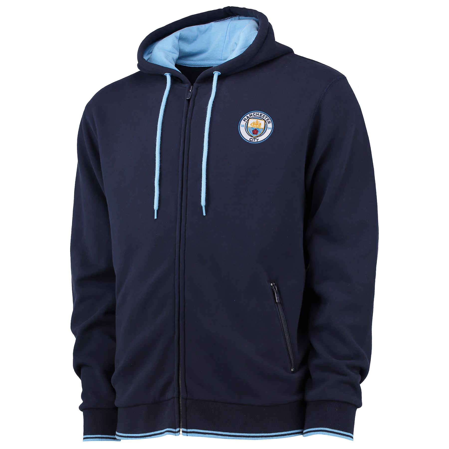 Manchester City Classic Full Zip Hoodie - Navy