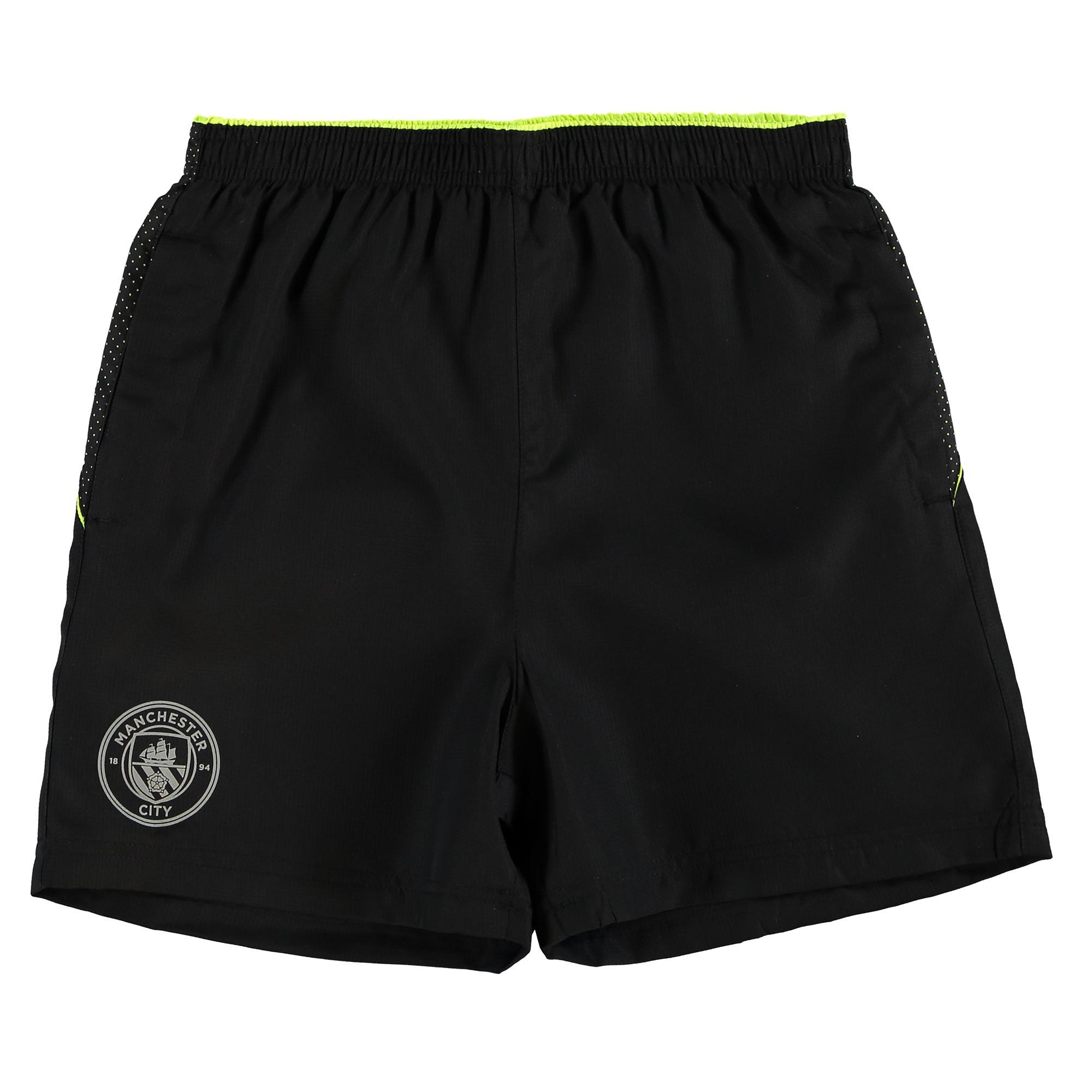 Manchester City Sport Woven Shorts - Black - Junior